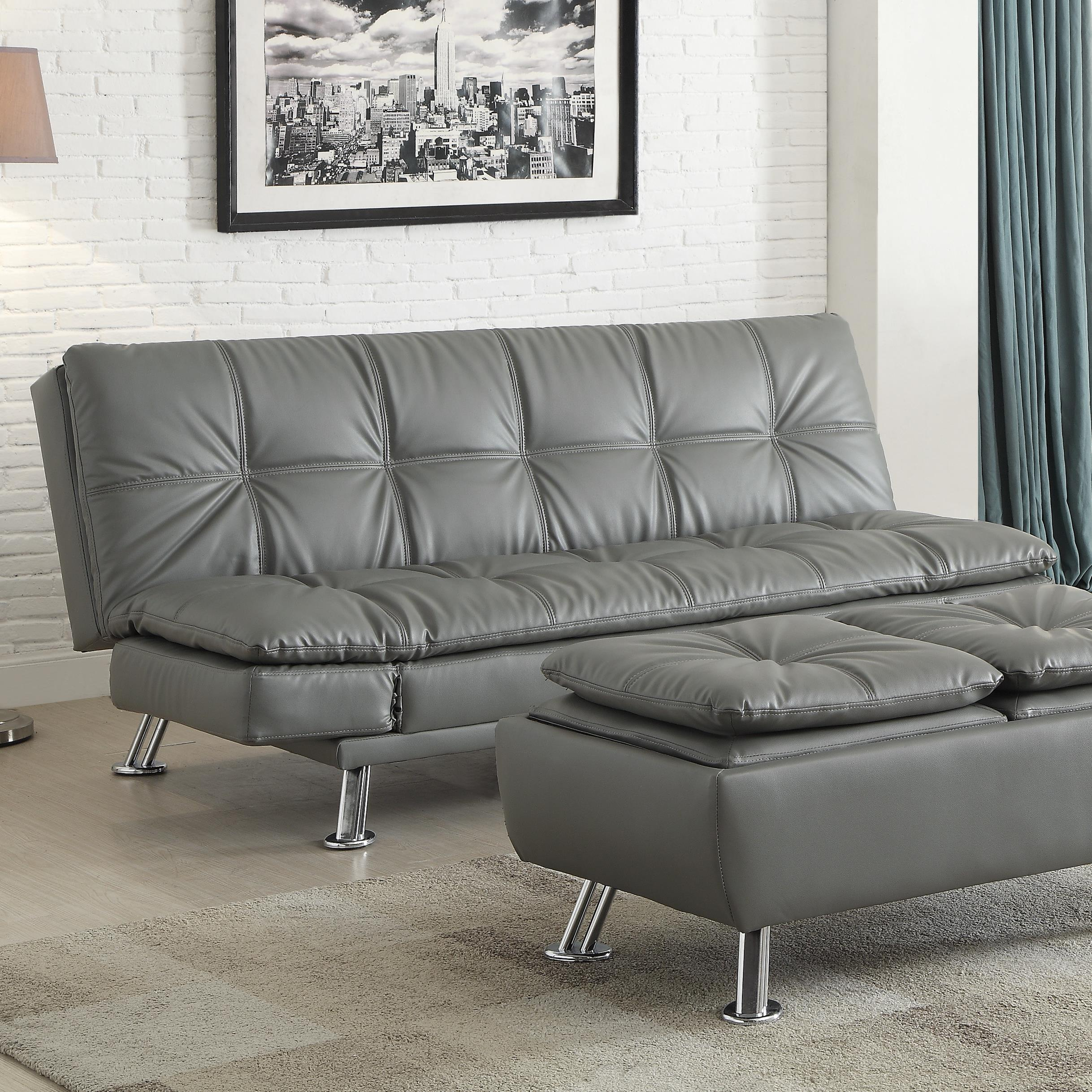 Sofa Bed For Sale In Quezon City: Dilleston Sofa Bed In Futon Style With Chrome Legs