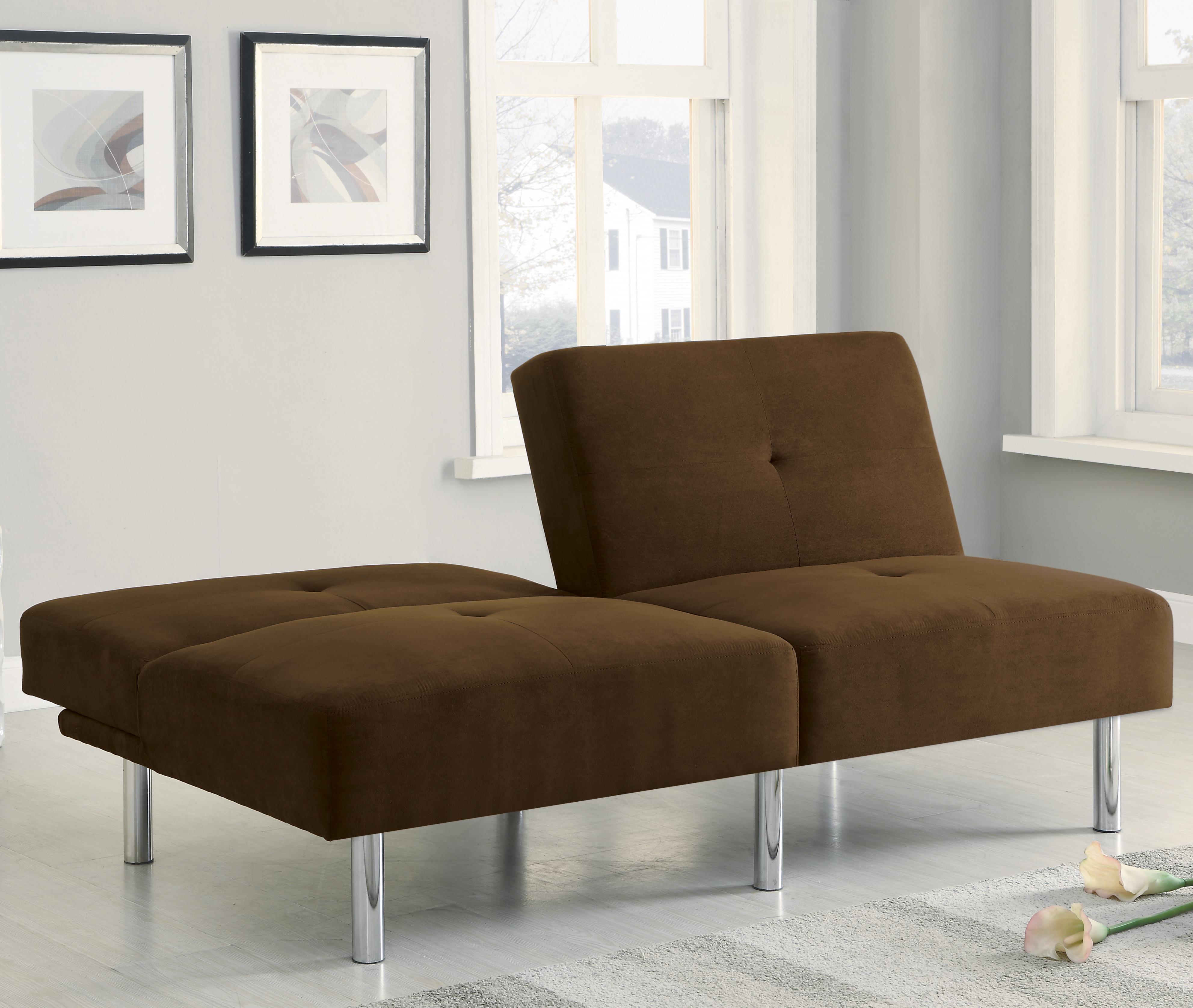Contemporary Futon Sofa Bed: Contemporary Microfiber Sofa Bed