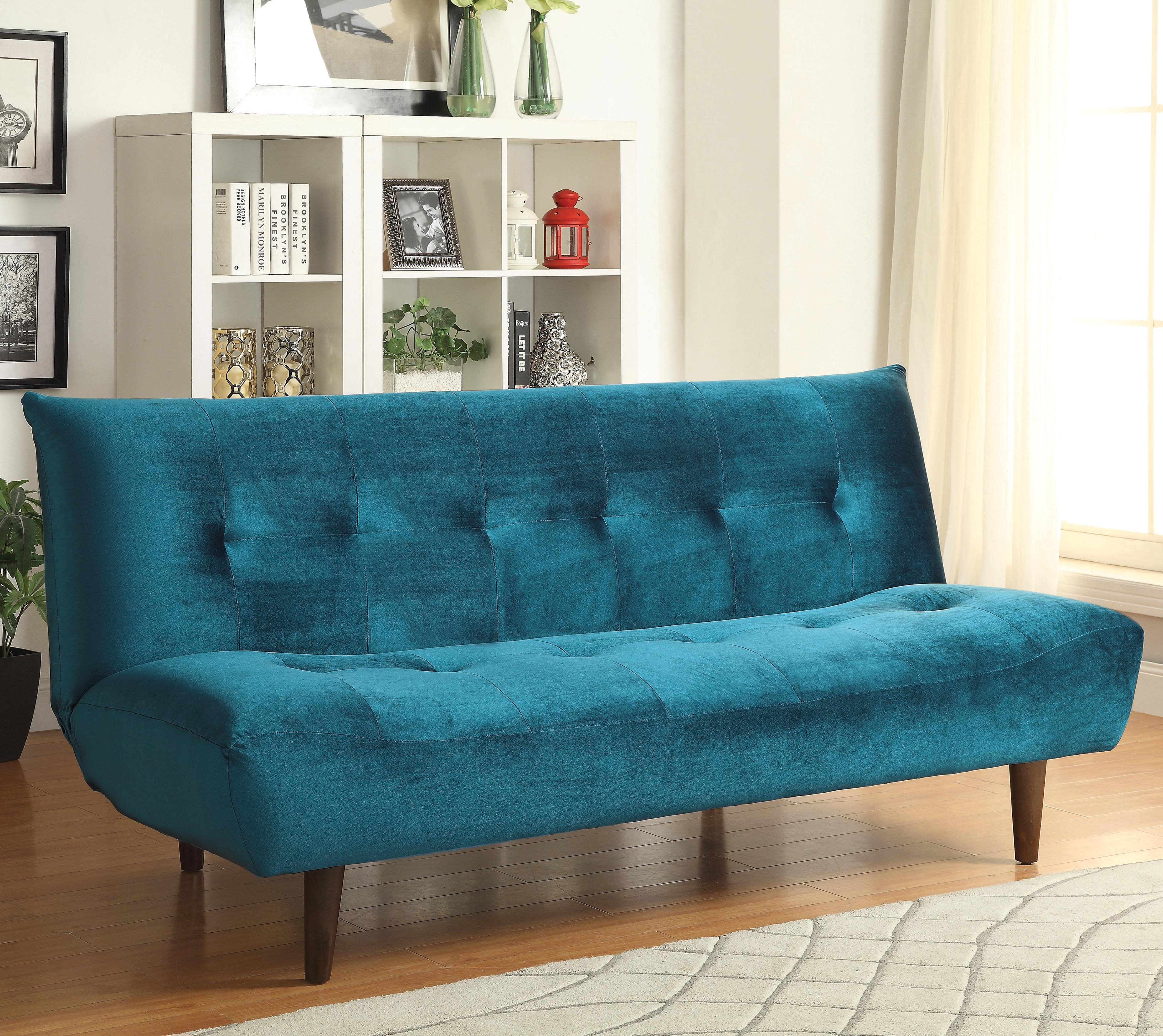 sofa beds and futons teal velvet sofa bed with solid. Black Bedroom Furniture Sets. Home Design Ideas