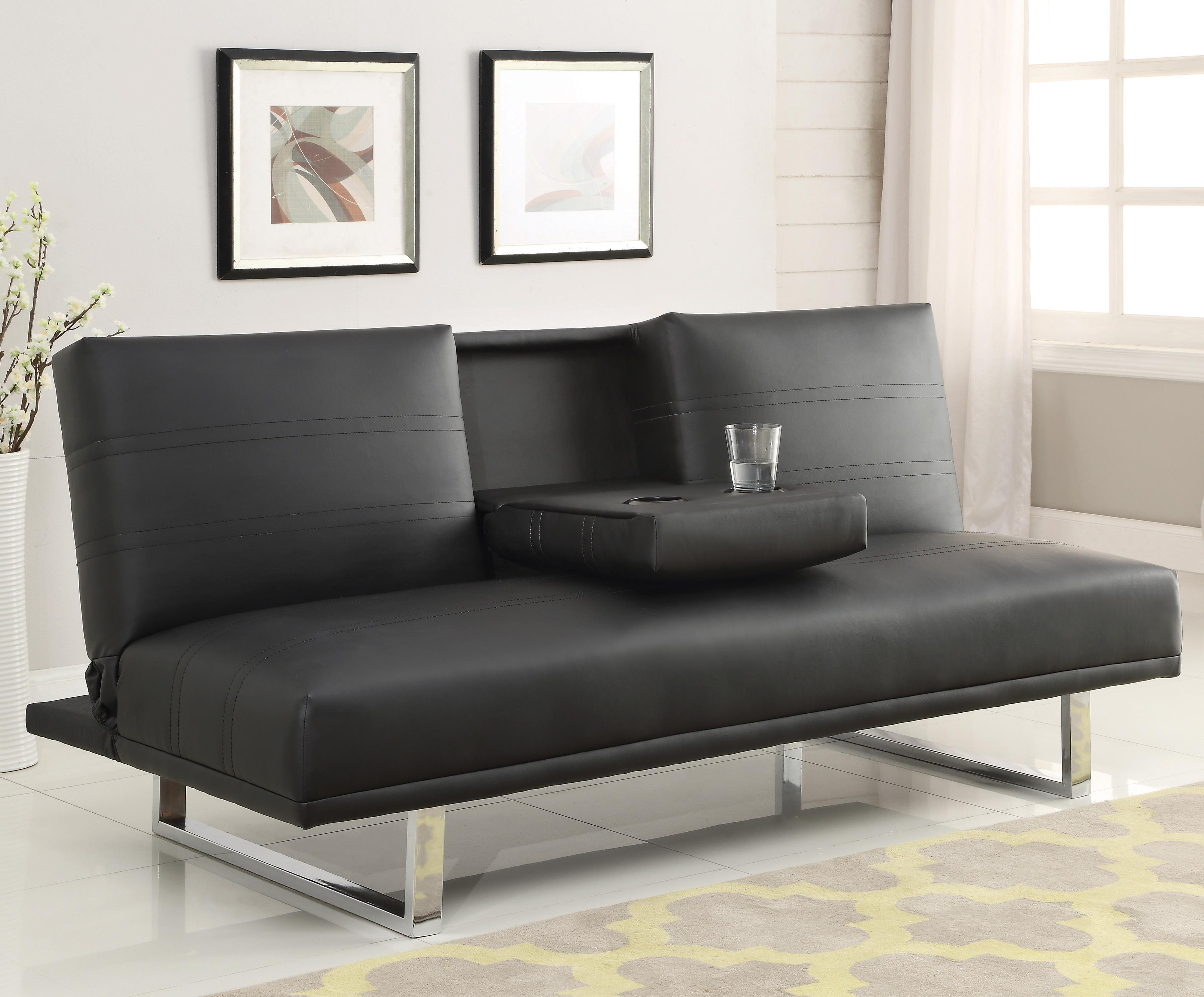Sofa Beds and Futons - Contemporary Sofa Bed with Chrome Legs