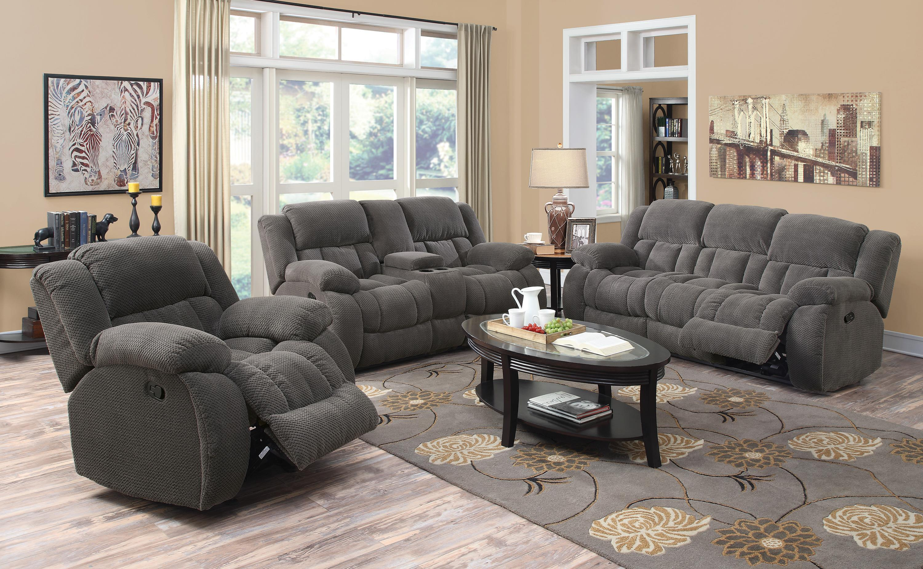 Casual Pillow Padded Reclining Loveseat