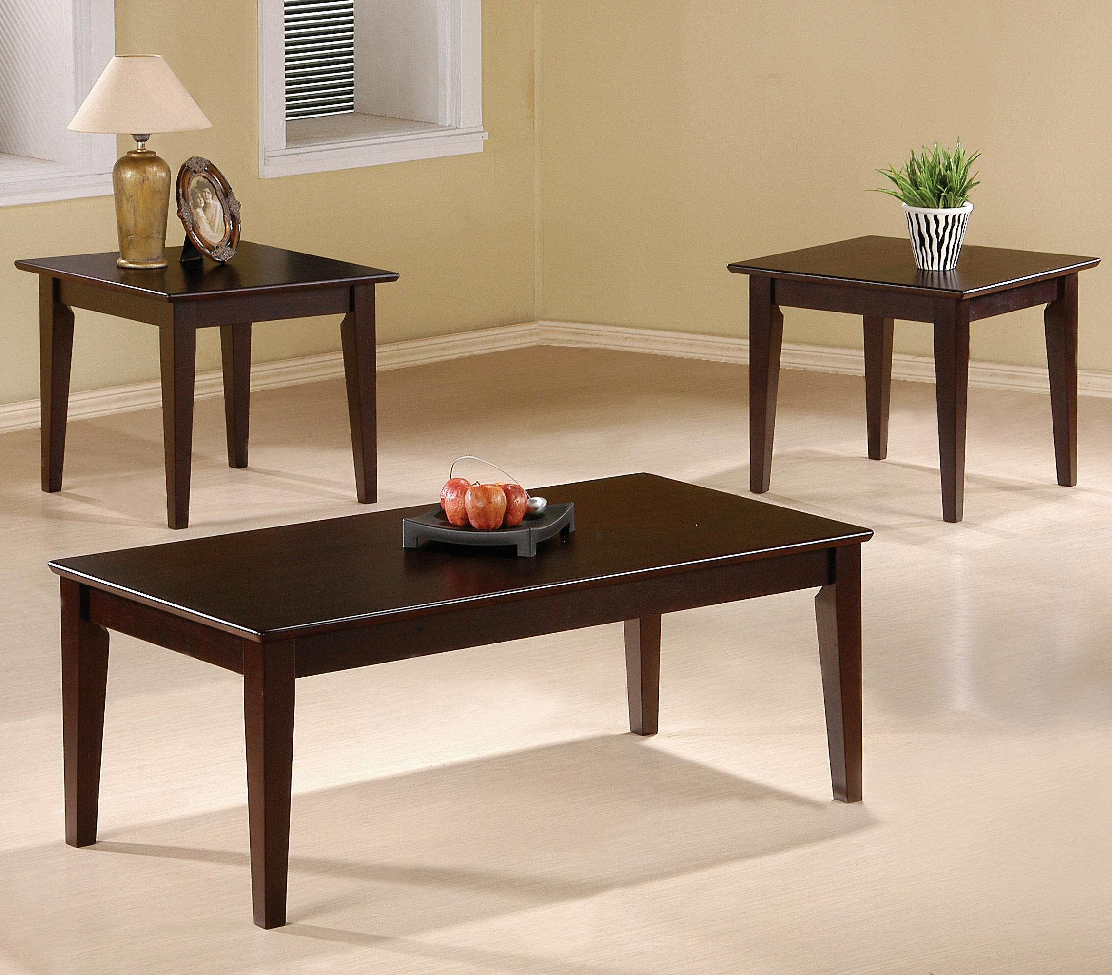 3 Piece Occasional Table Sets 3 Piece Occasional Table Set