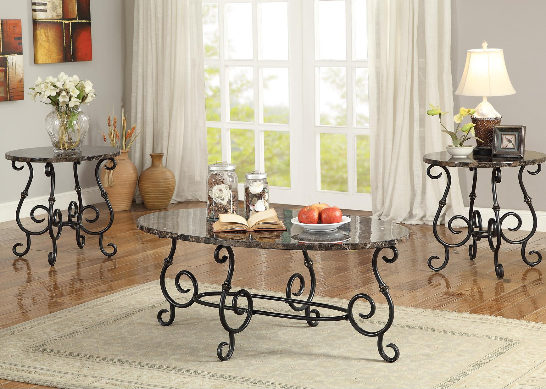 3 Piece Occasional Table Sets 3 Piece Accent Table Set