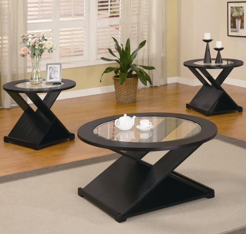 3 Piece Occasional Table Sets Contemporary 3 Piece Round Occasional Table  Set