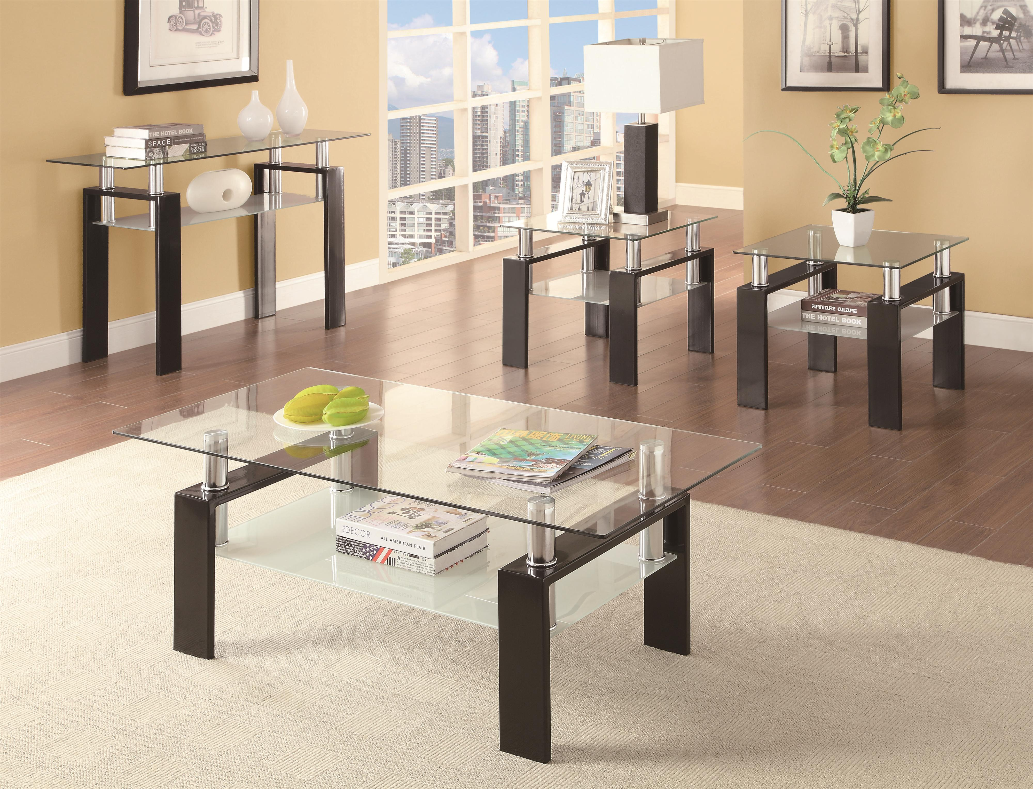 Occasional Group 702280 Tempered Glass Sofa Table