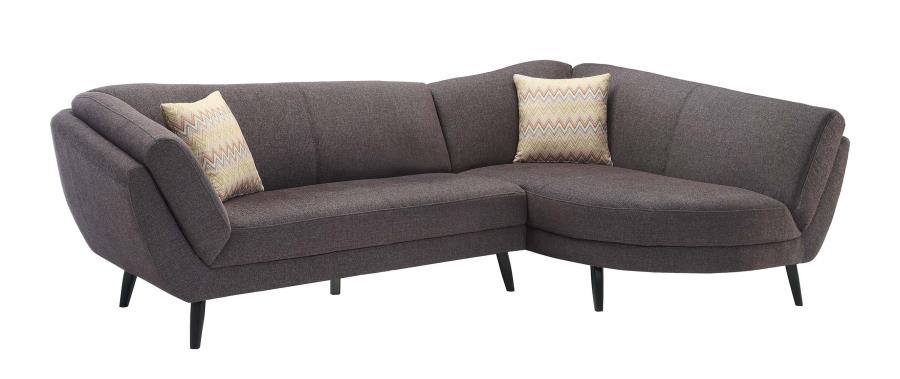 Norwood Mid Century Modern Two Piece Sectional Sofa  sc 1 st  FurnitureWares : danish modern sectional sofa - Sectionals, Sofas & Couches