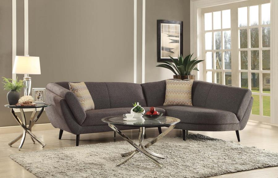 ^ Norwood Mid entury Modern wo Piece Sectional Sofa Quality ...