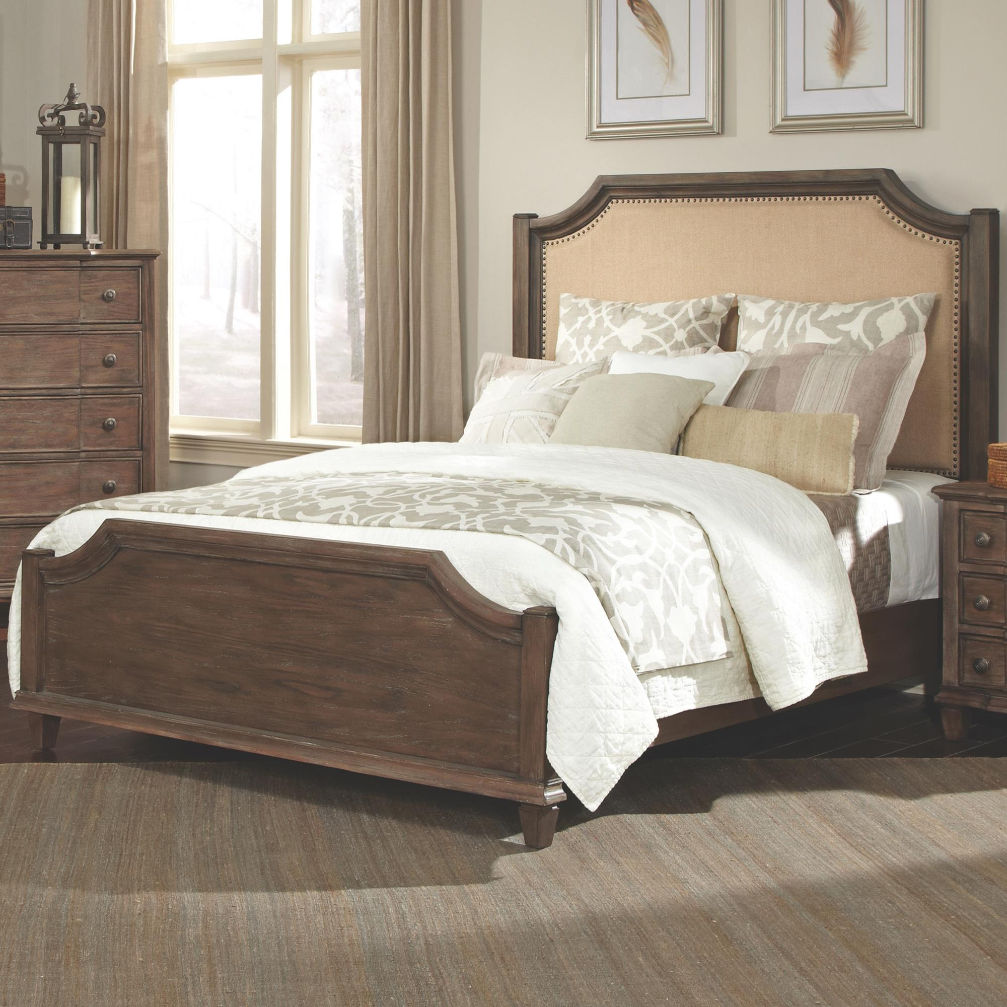Dalgarno California King Bed With Upholstered Headboard And Curved Details Quality Furniture At Affordable Prices In Philadelphia Main Line Pa