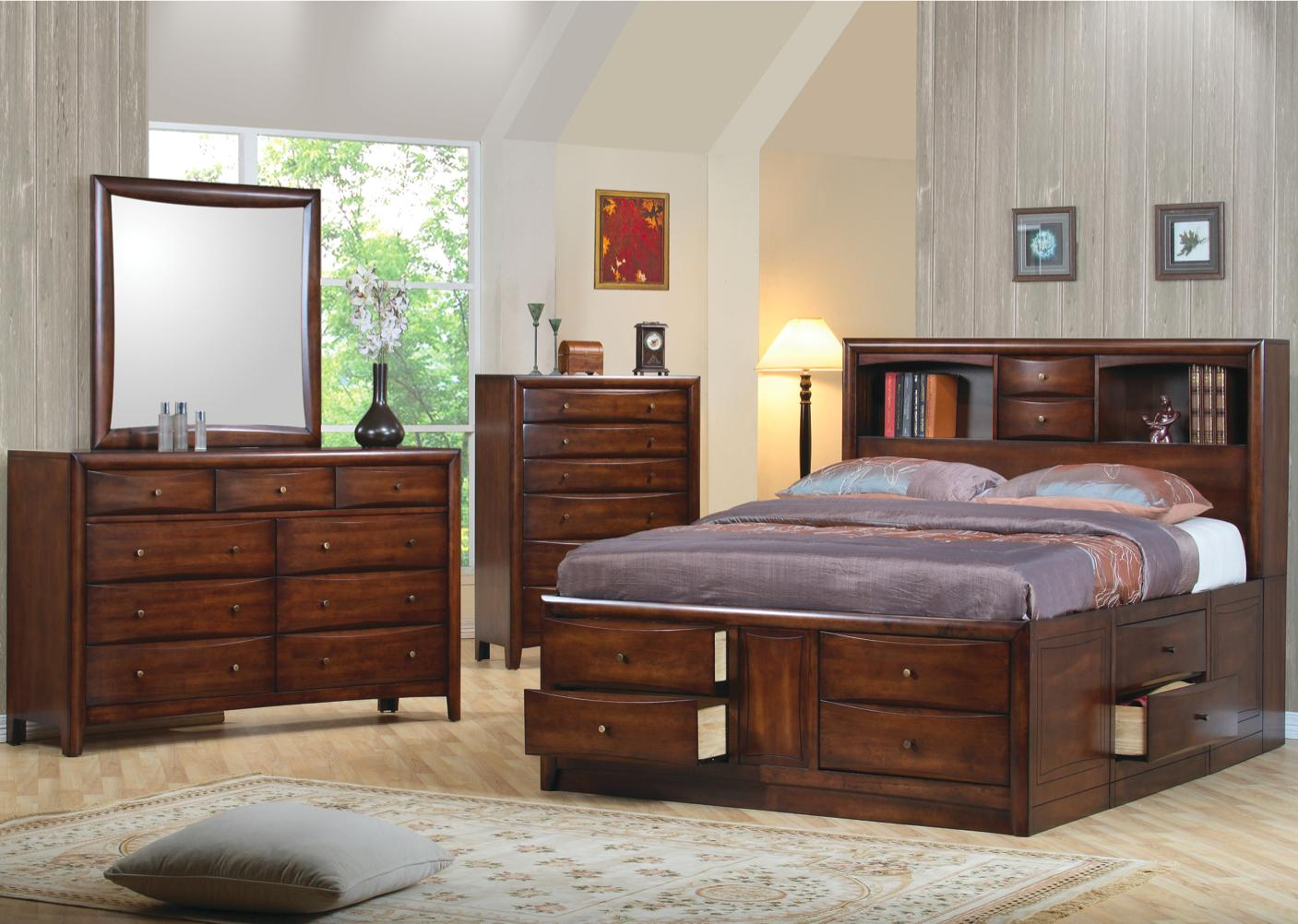 Hillary And Scottsdale Contemporary California King Bookcase Bed