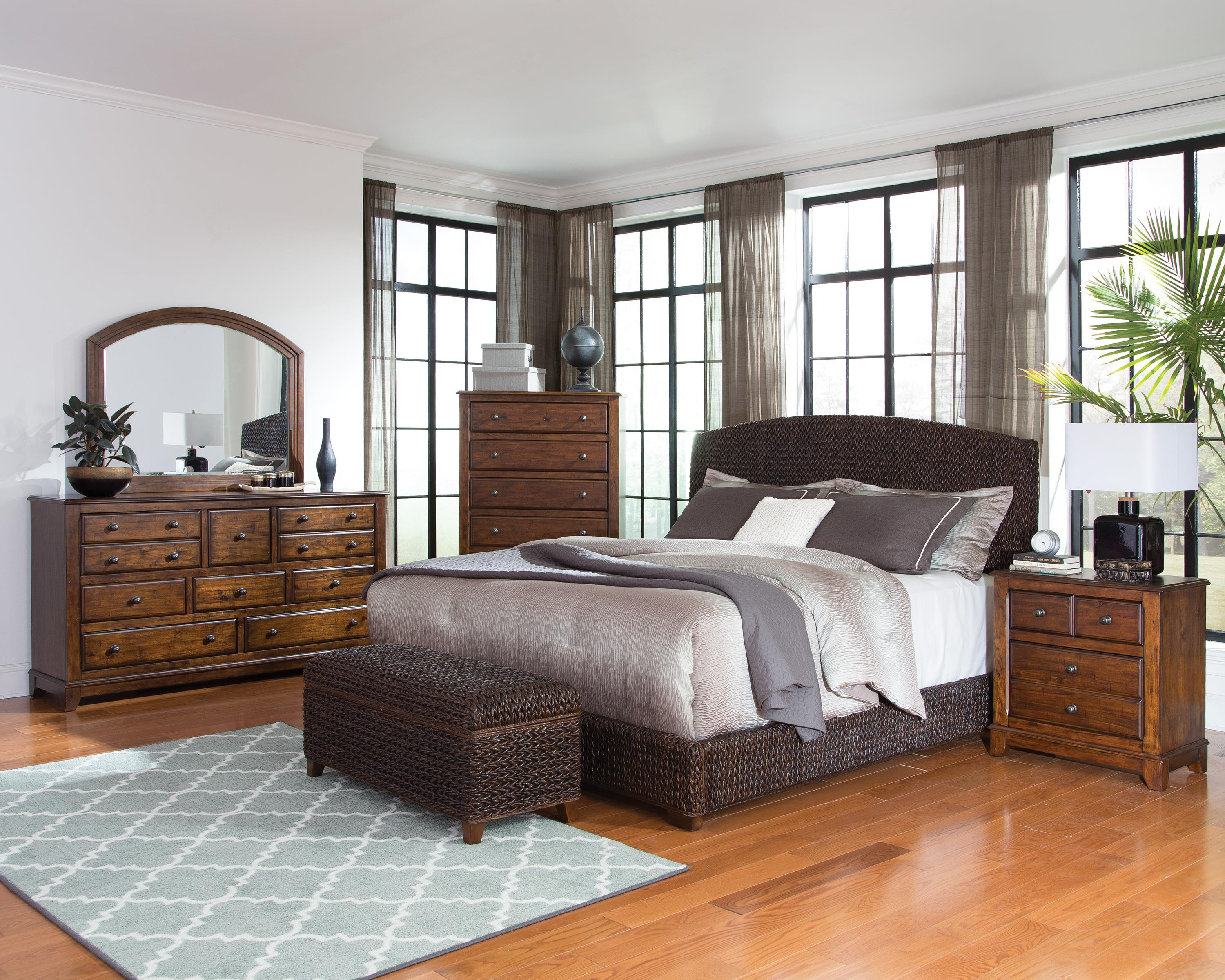 Laughton Woven Banana Leaf Queen Bed Quality Furniture At Affordable Prices In Philadelphia