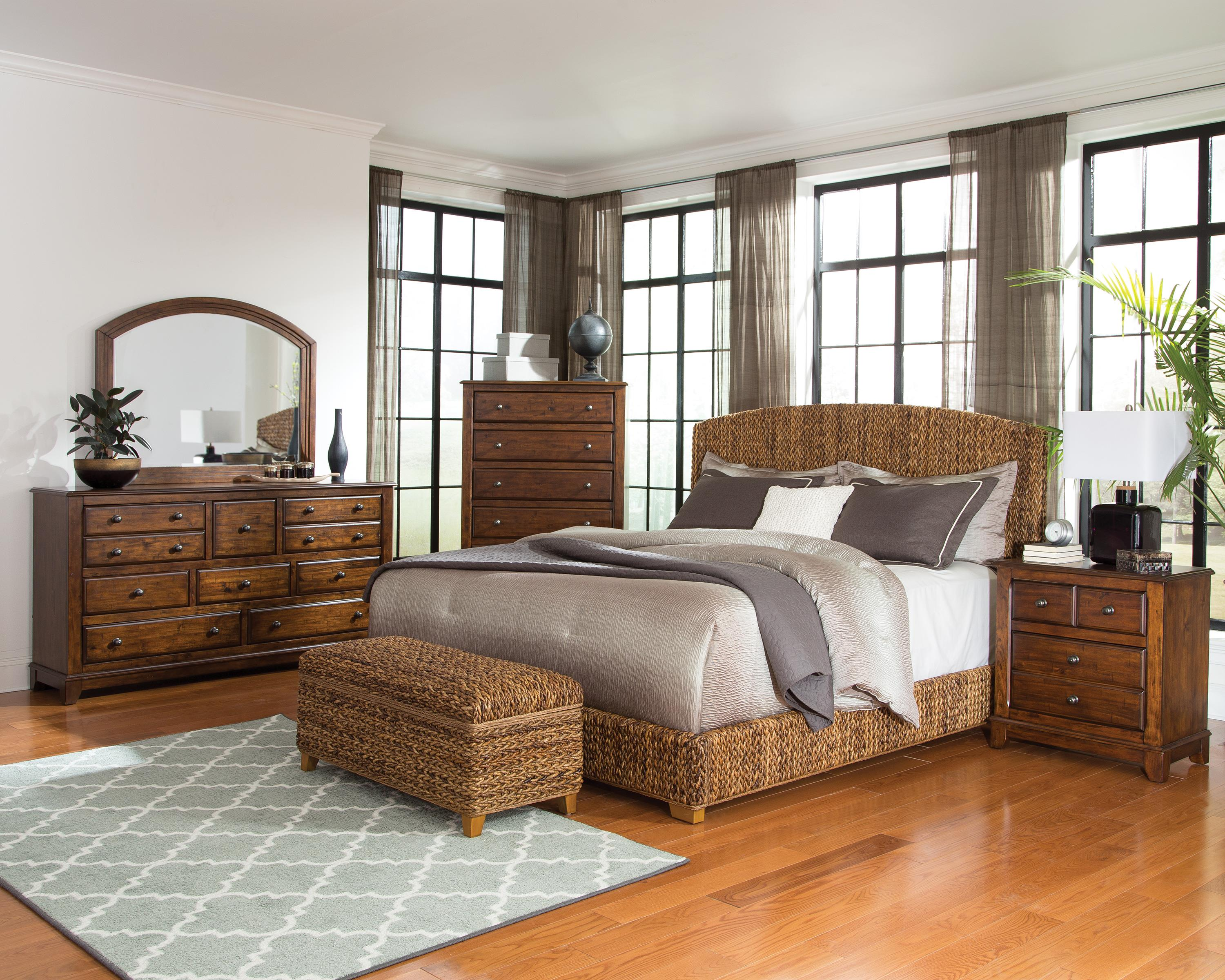 Laughton Woven Banana Leaf California King Bed Quality Furniture At Affordable Prices In Philadelphia Main Line Pa