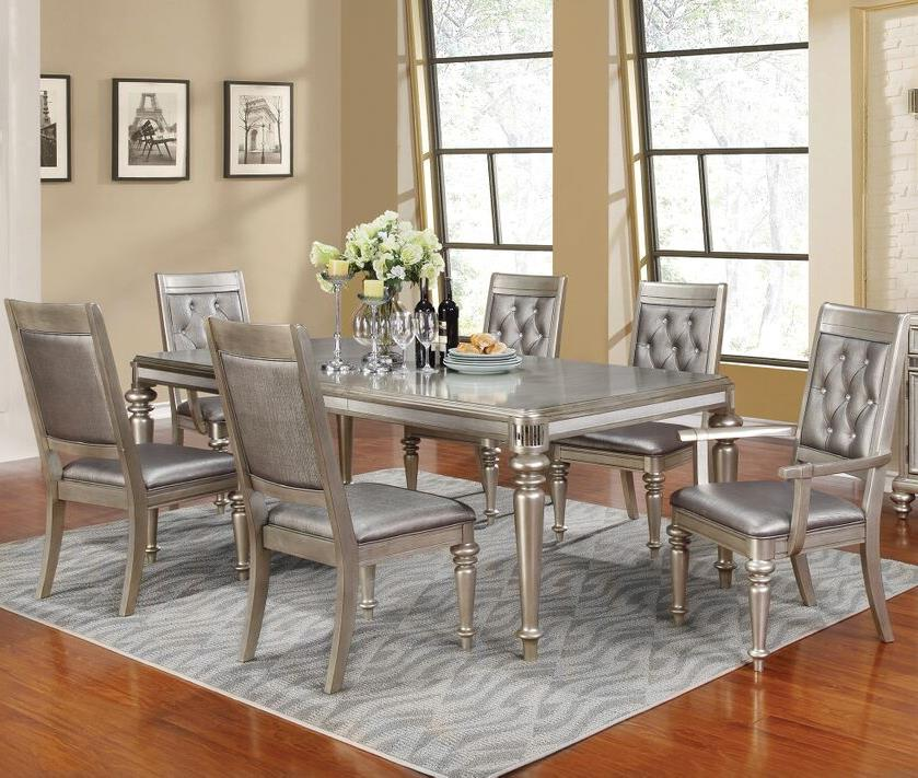 Danette Rectangular 7 Piece Bling Dining Table Set With