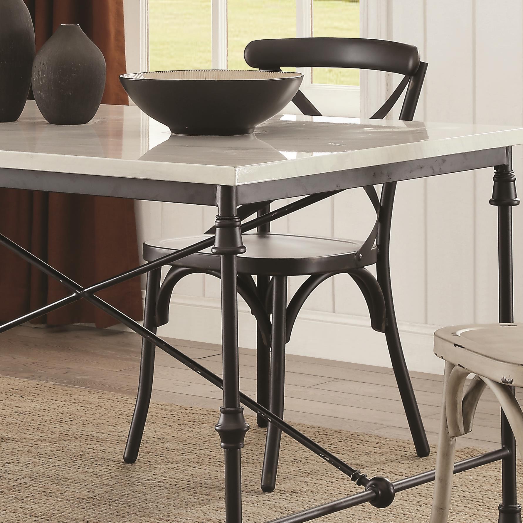 Nagel Rustic Metal Dining Chair ...
