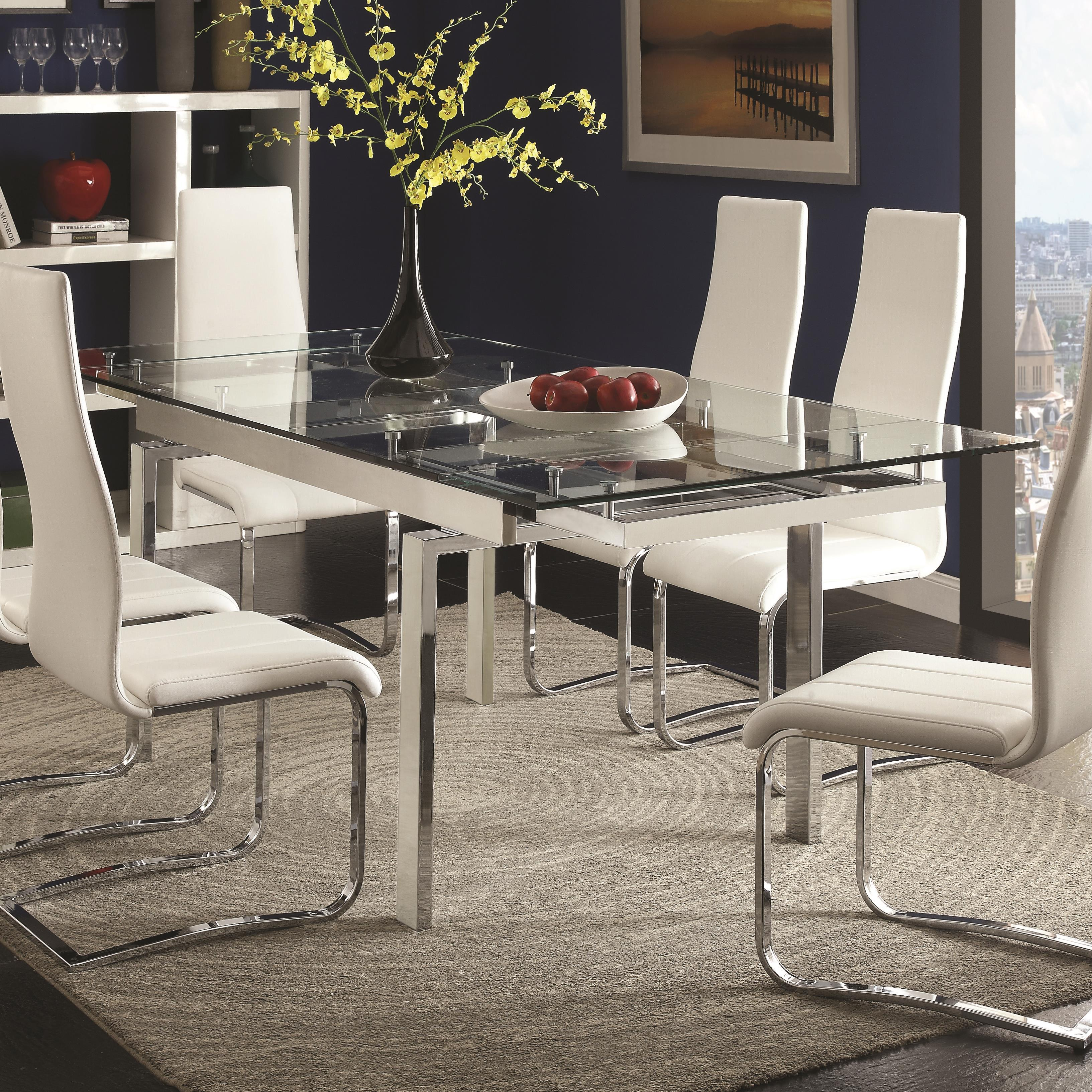 Dining Table Prices: Modern Dining Contemporary Glass Dining Table With Leaves