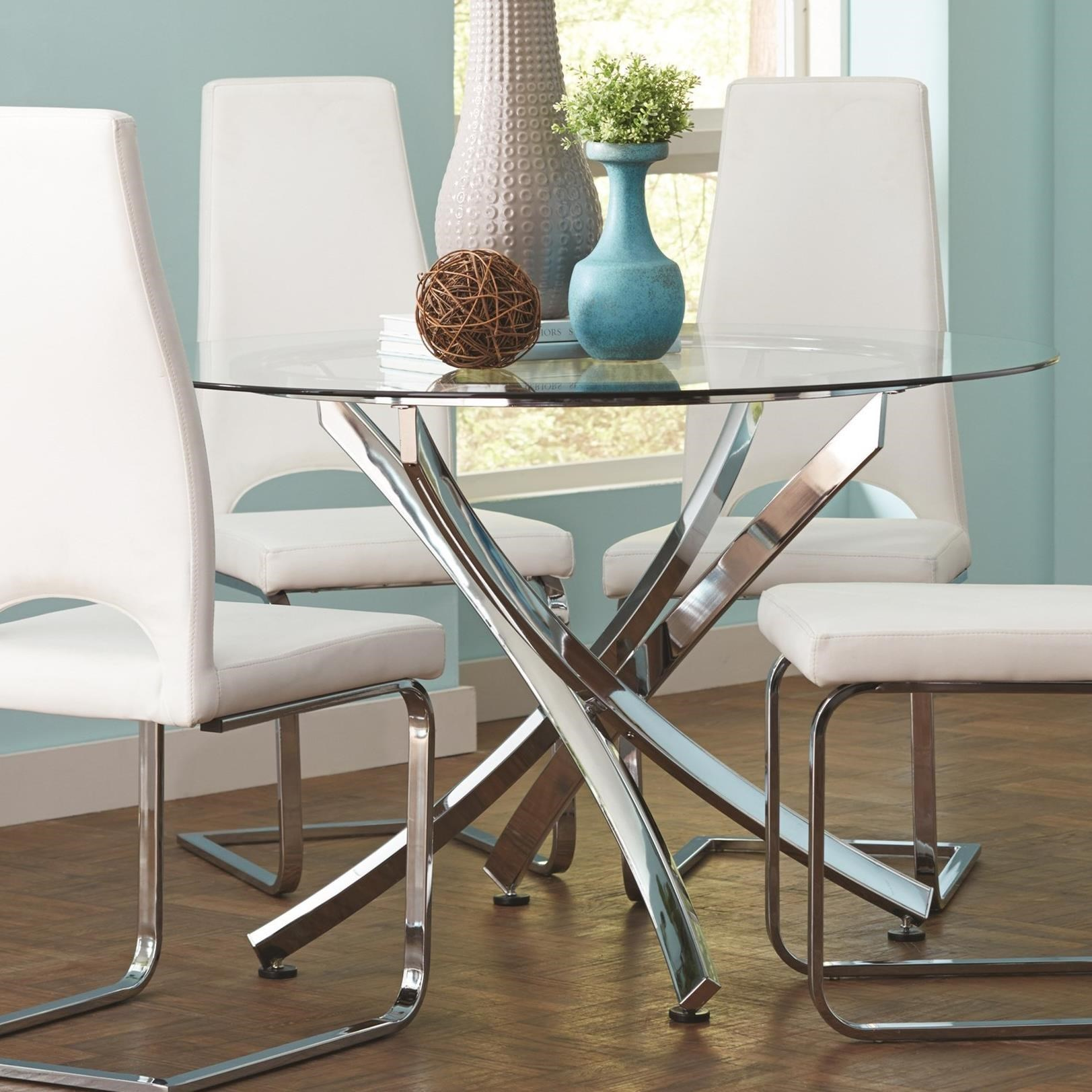 Augustin Contemporary Round Dining Table