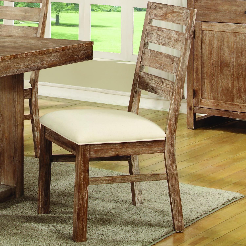Elmwood Rustic Solid Wood Side Chair