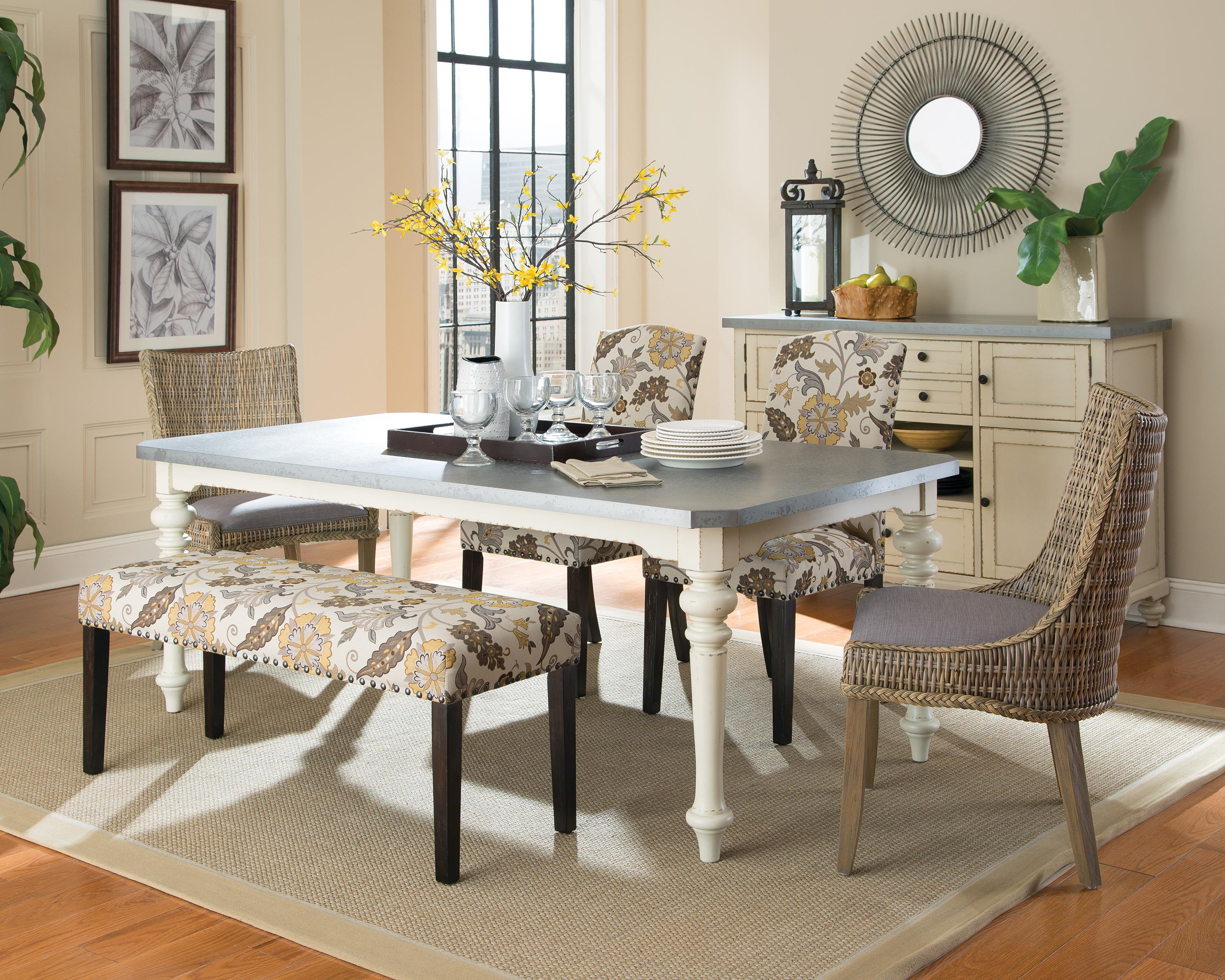 Dining Room Set With Upholstered Chairs And Bench