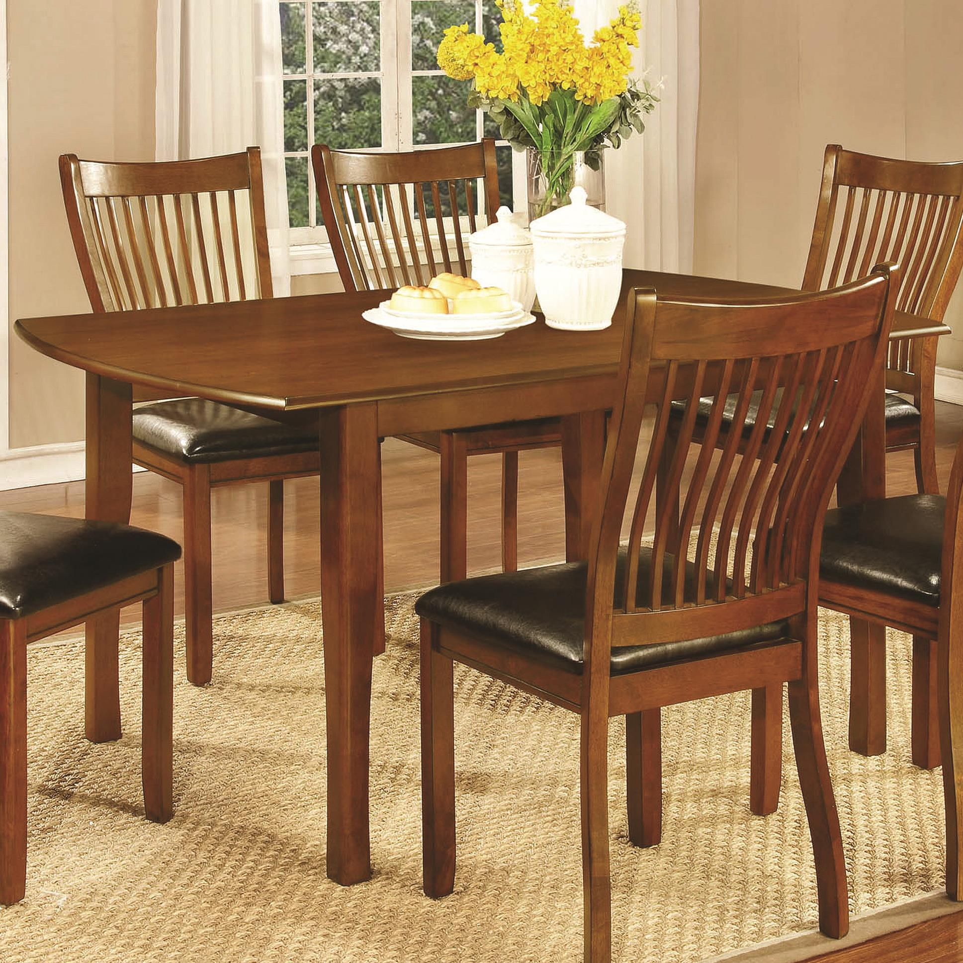 sierra rectangular dining table with block legs quality furniture at