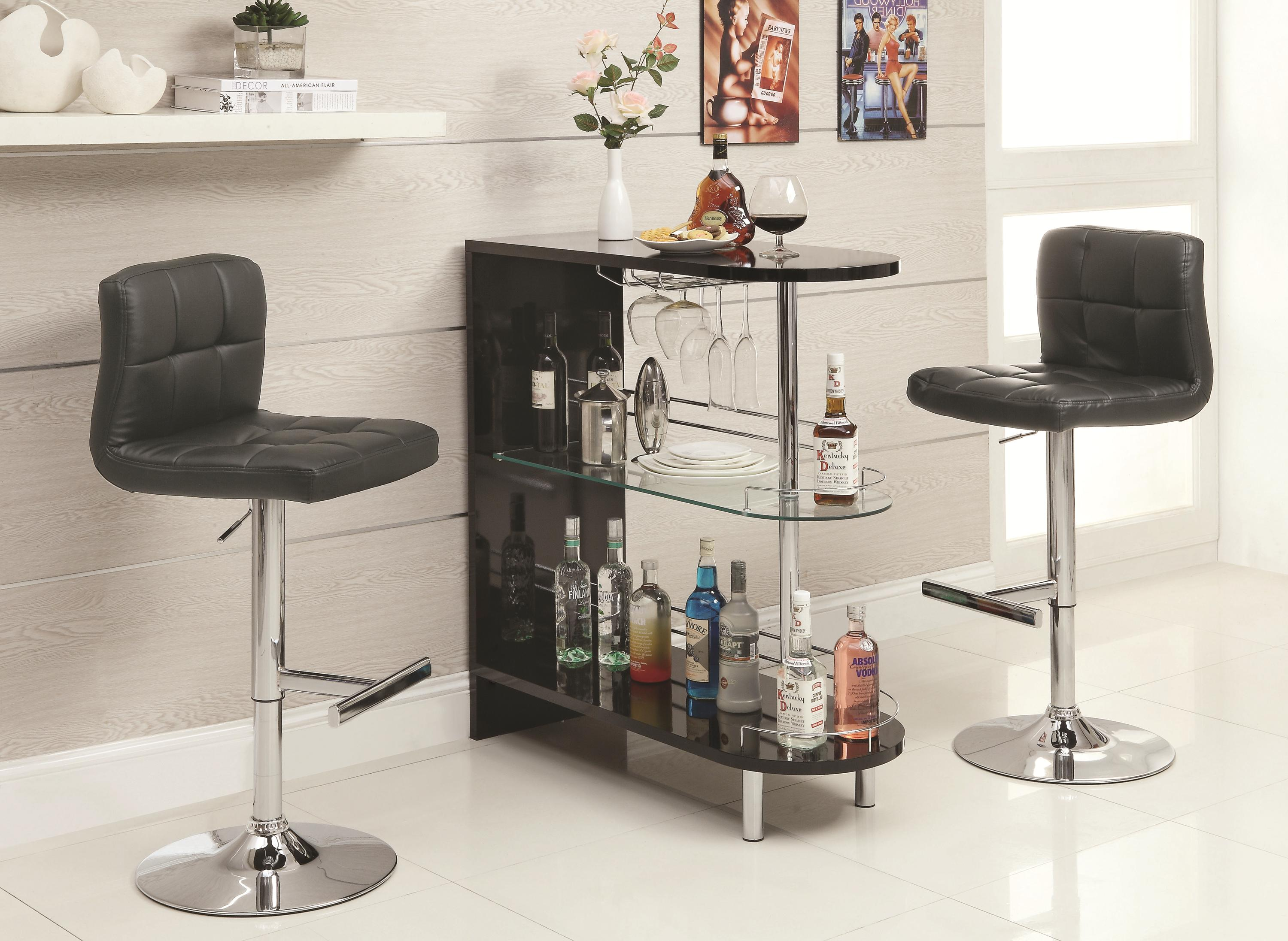 Bar Units and Bar Tables Contemporary Black Bar Table | Quality ...