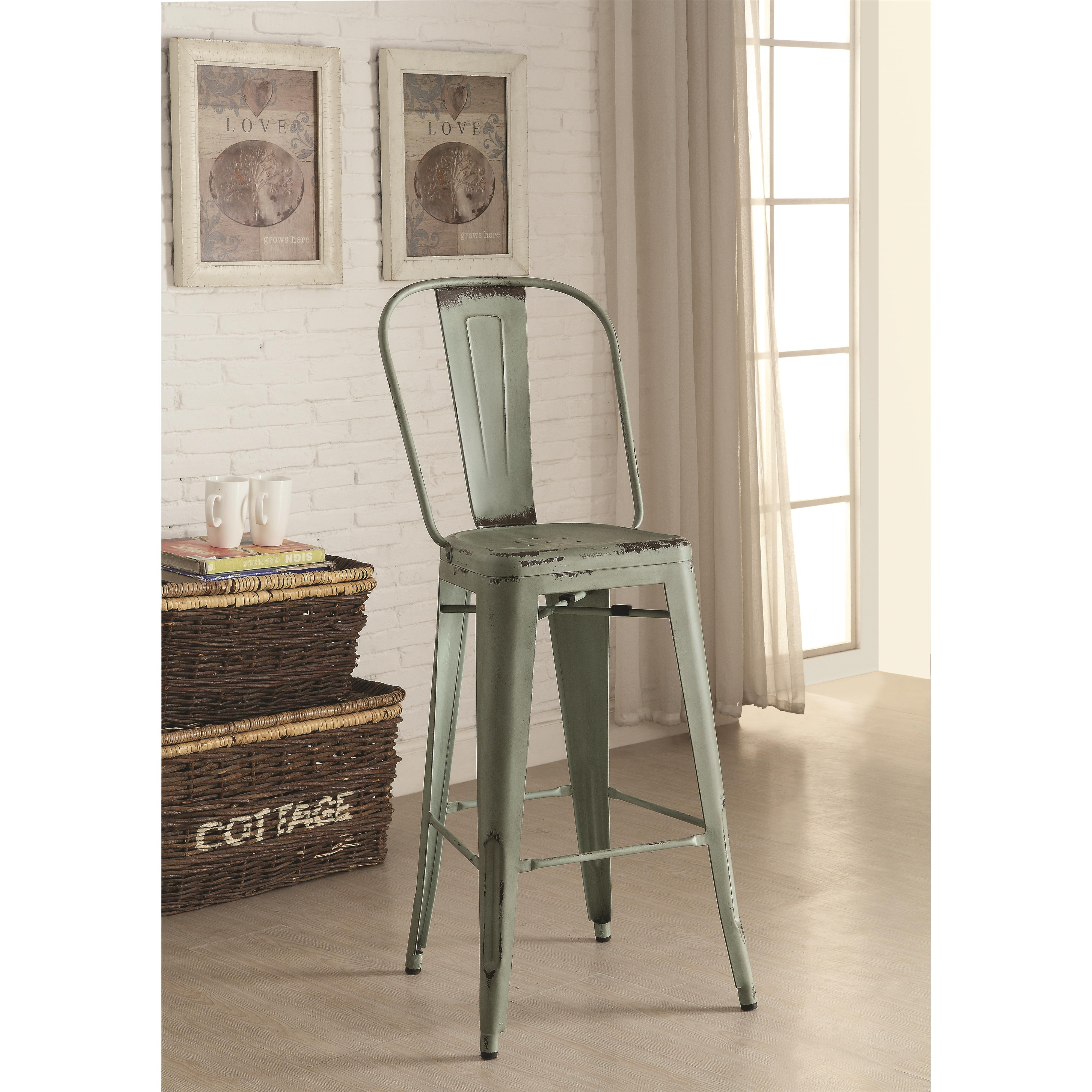 Dining Chairs and Bar Stools Galvanized Metal Bar Stool  : 1 29 from furniturewares.com size 4000 x 4000 jpeg 1322kB