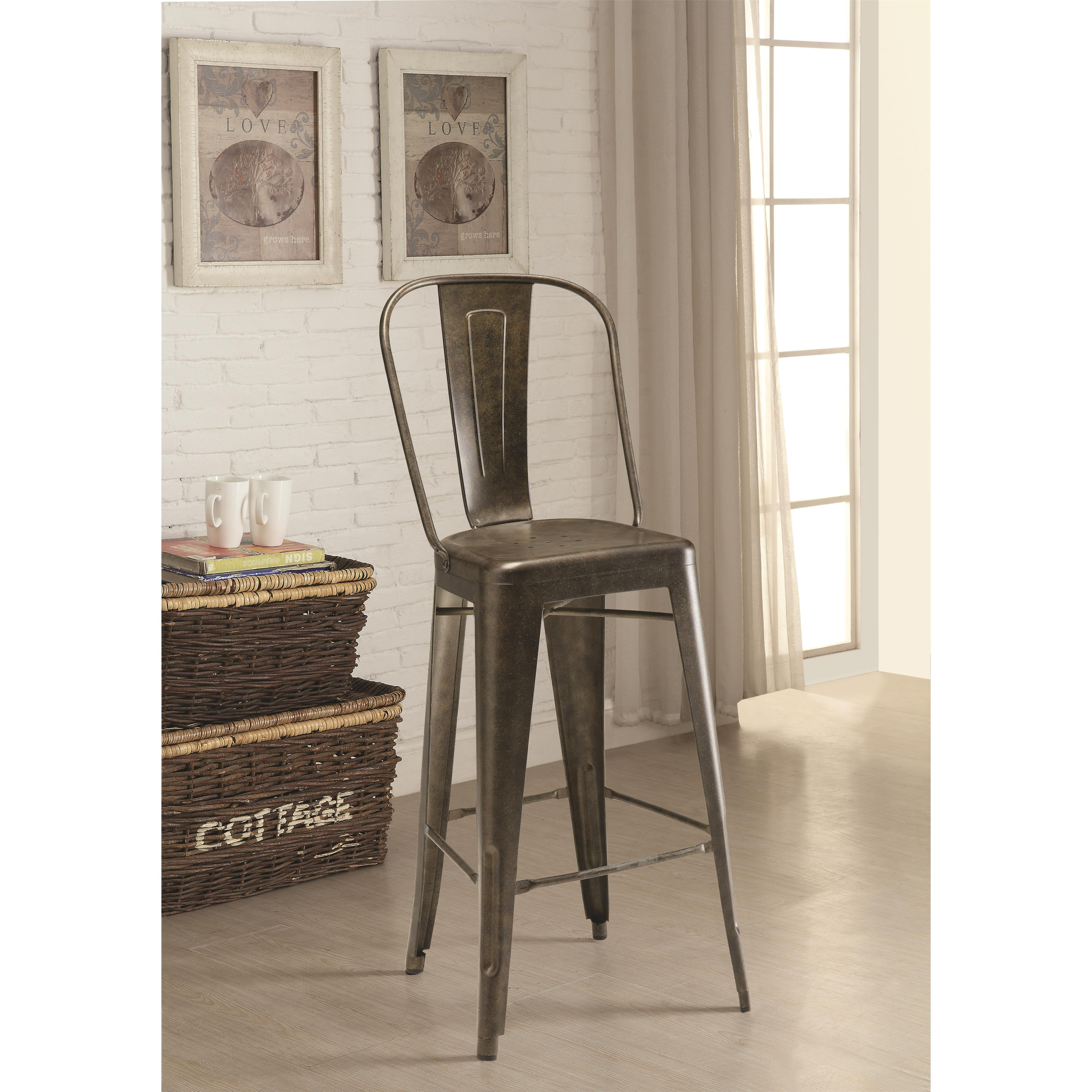 dining chairs and bar stools galvanized metal bar stool