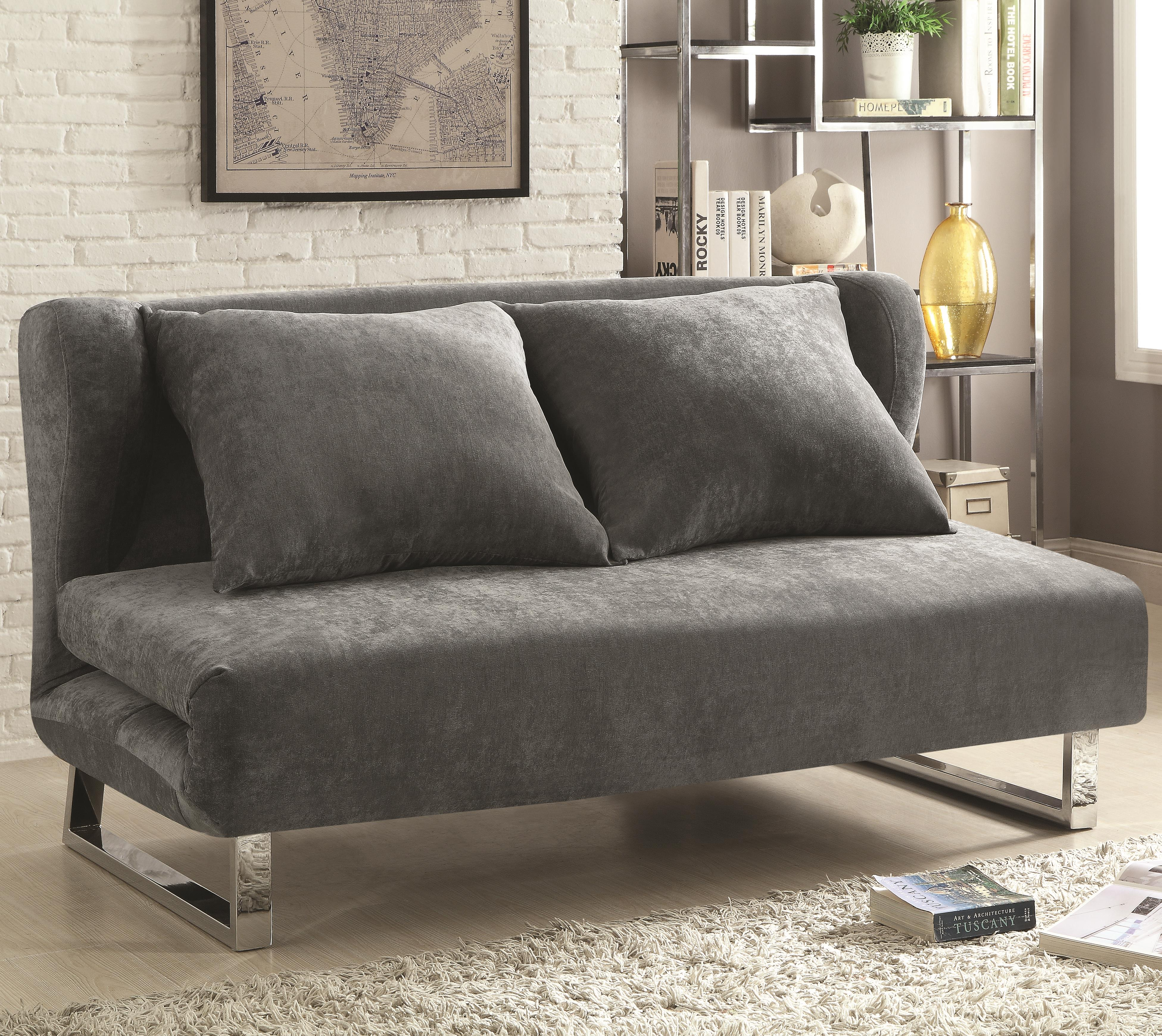 Sofa Beds and Futons – Transitional Velvet Sofa Bed