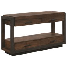 70565 Industrial Sofa Table With Four Drawers