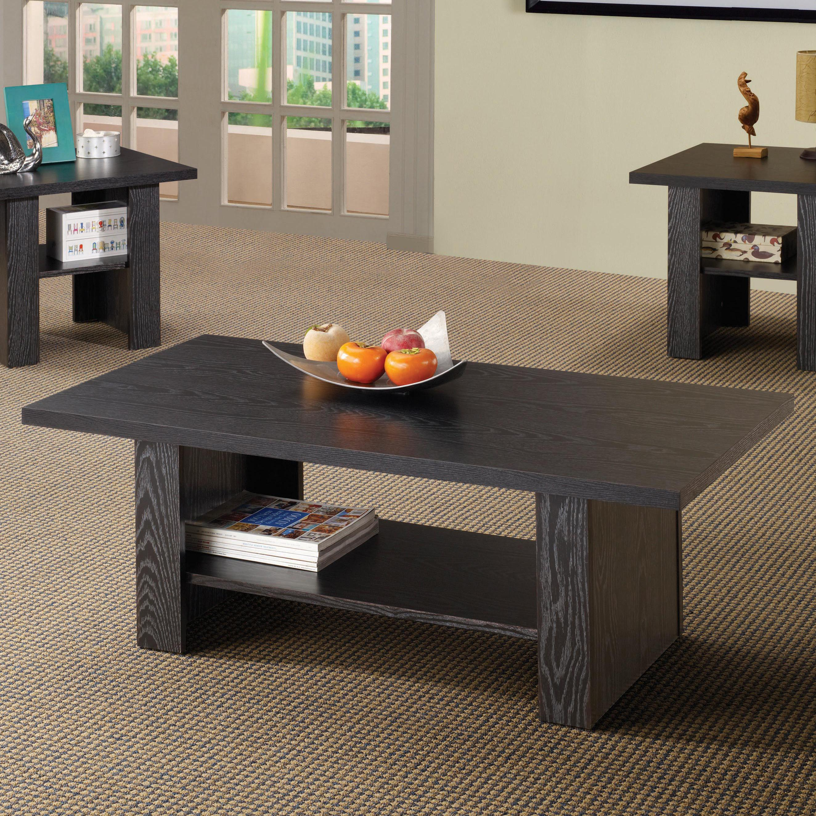 Occasional Table Sets Contemporary 3 Piece Occasional Table Set