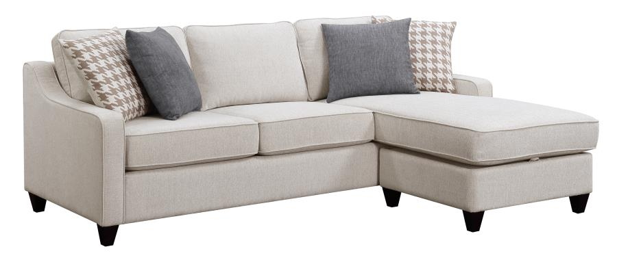 Montgomery Modern Sectional With Storage Ottoman