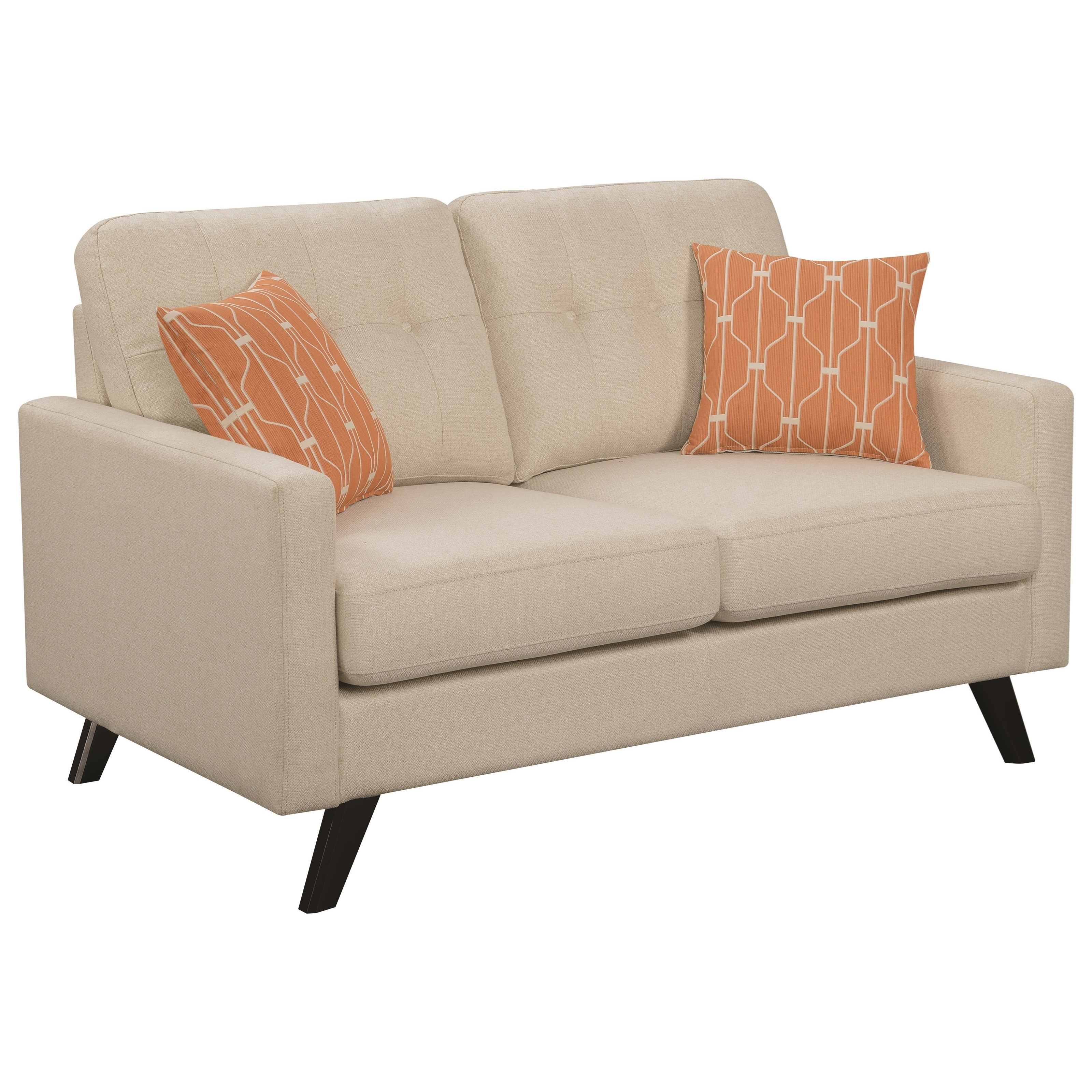 Montana Mid Century Modern Loveseat Quality Furniture At Affordable Prices In Philadelphia Main Line Pa