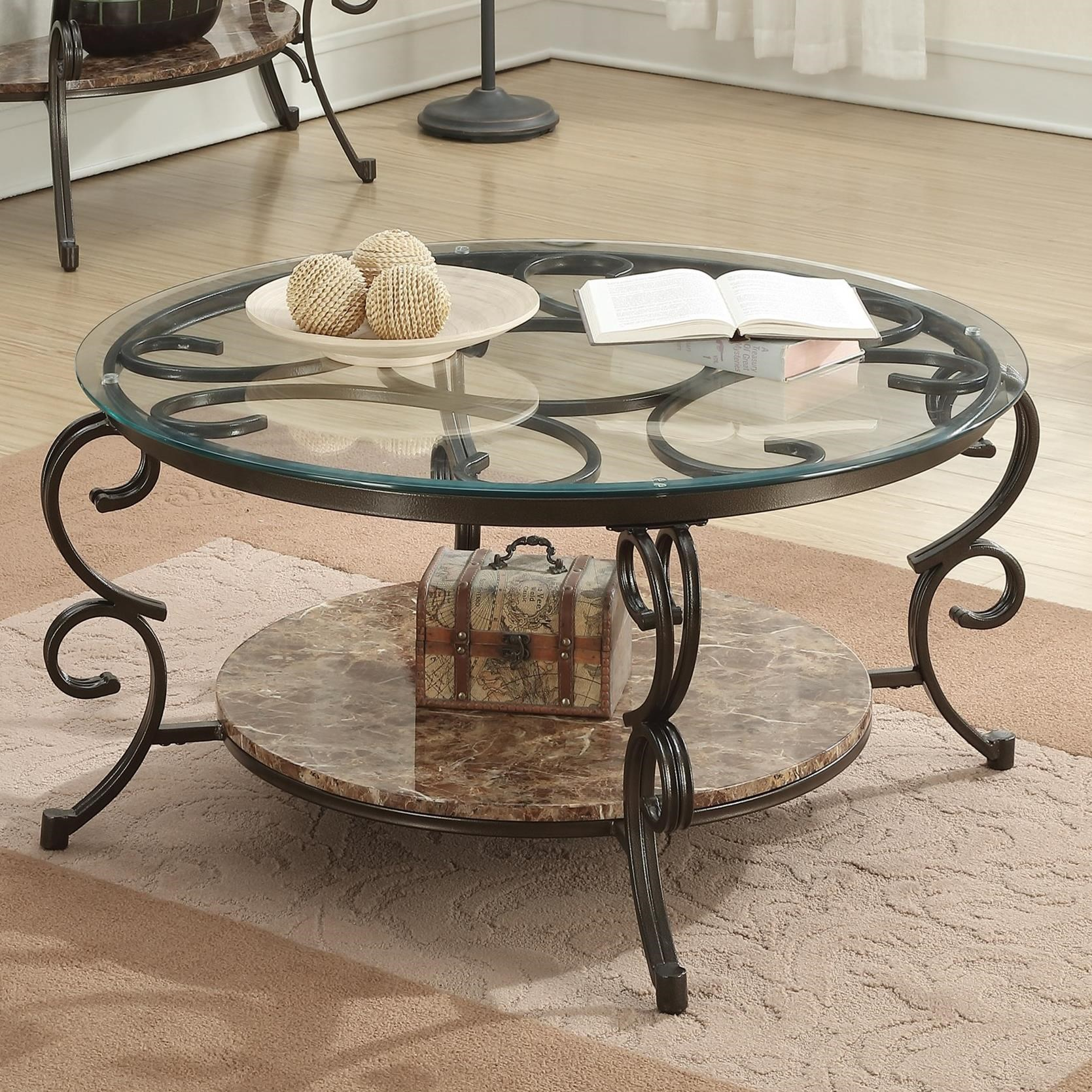 Gertrude Coffee Table With Faux Marble Shelf Quality Furniture At - Affordable marble coffee table