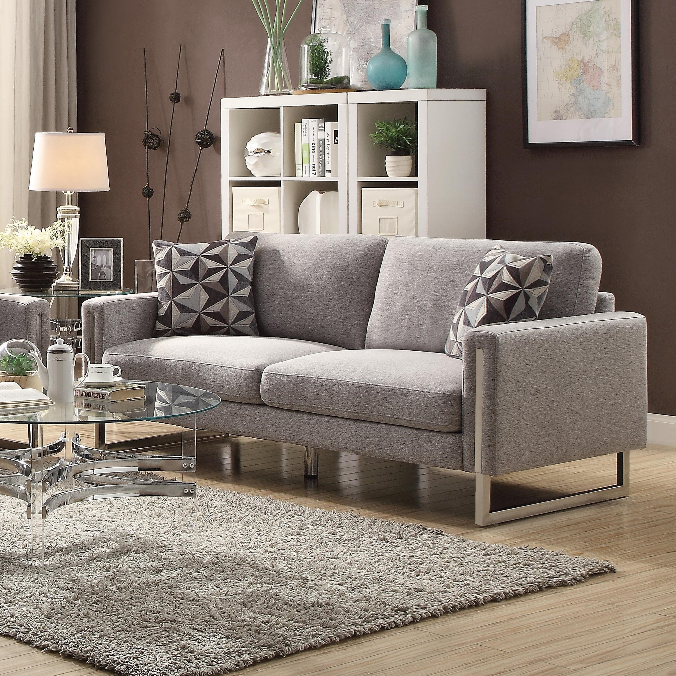 Ashley Furniture Philadelphia: Stellan Modern Sofa With U-Shaped Steel Legs