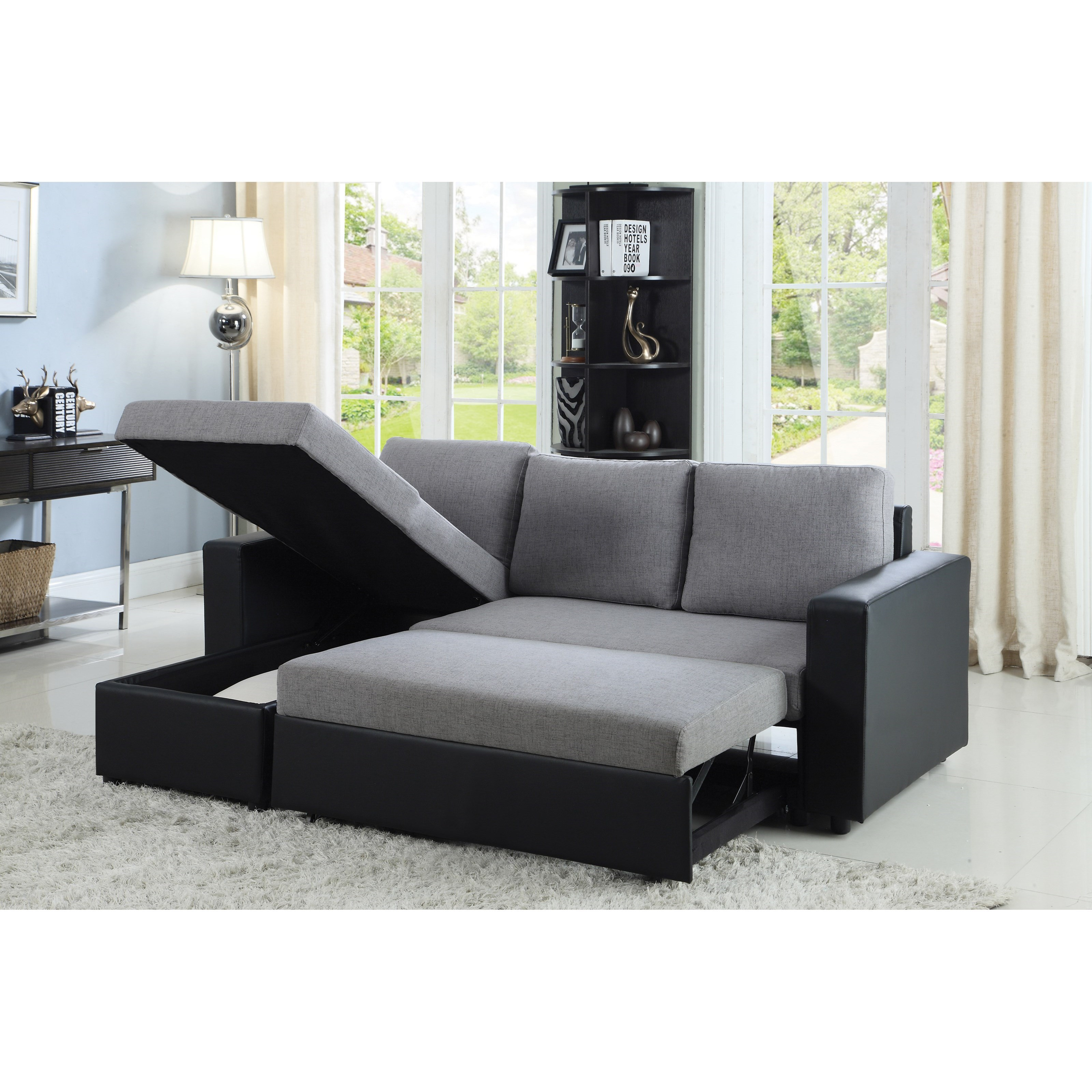 Baylor Sectional Sofa With Chaise And Sleeper Quality Furniture At Affordable Prices In