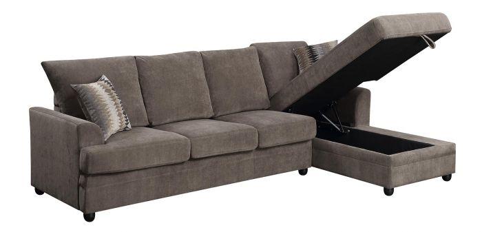 Moxie Chocolate Sectional Sofa With Sleeper Quality