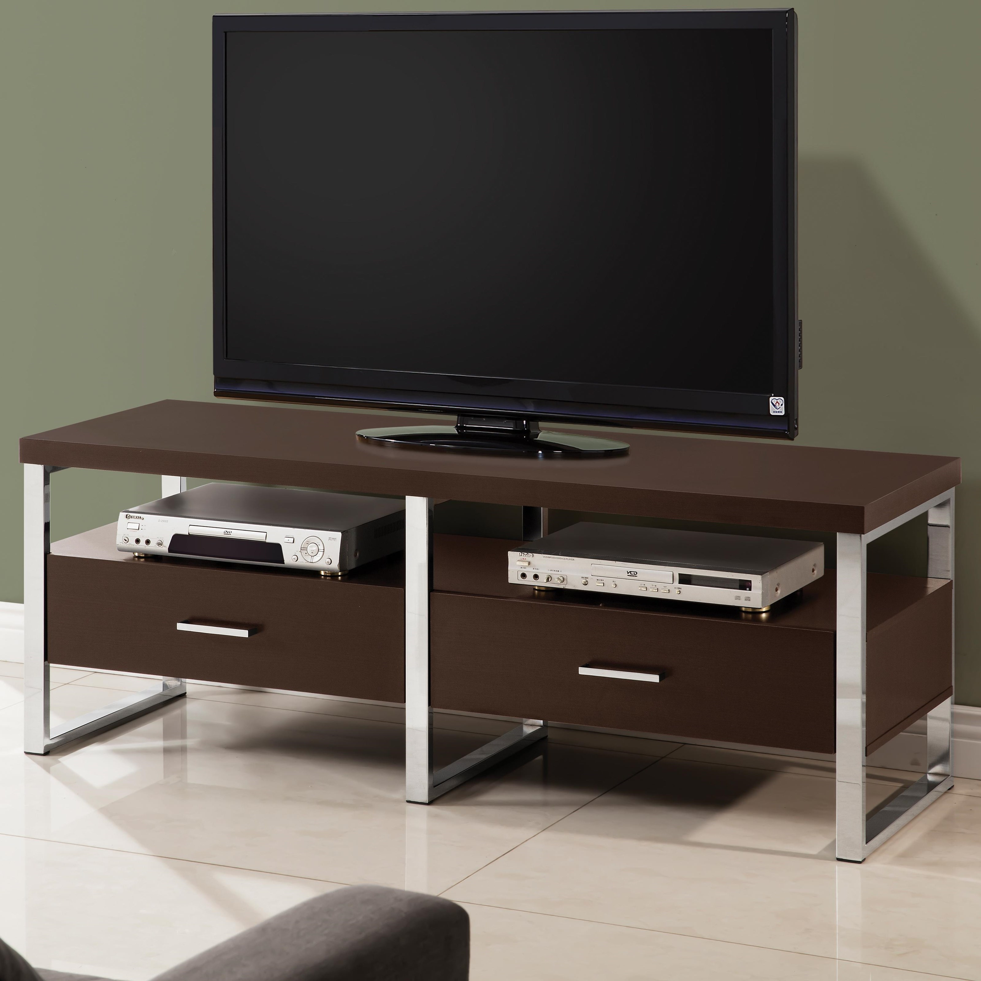 Tv Stands 59 Inch Tv Console With Chrome Legs Quality