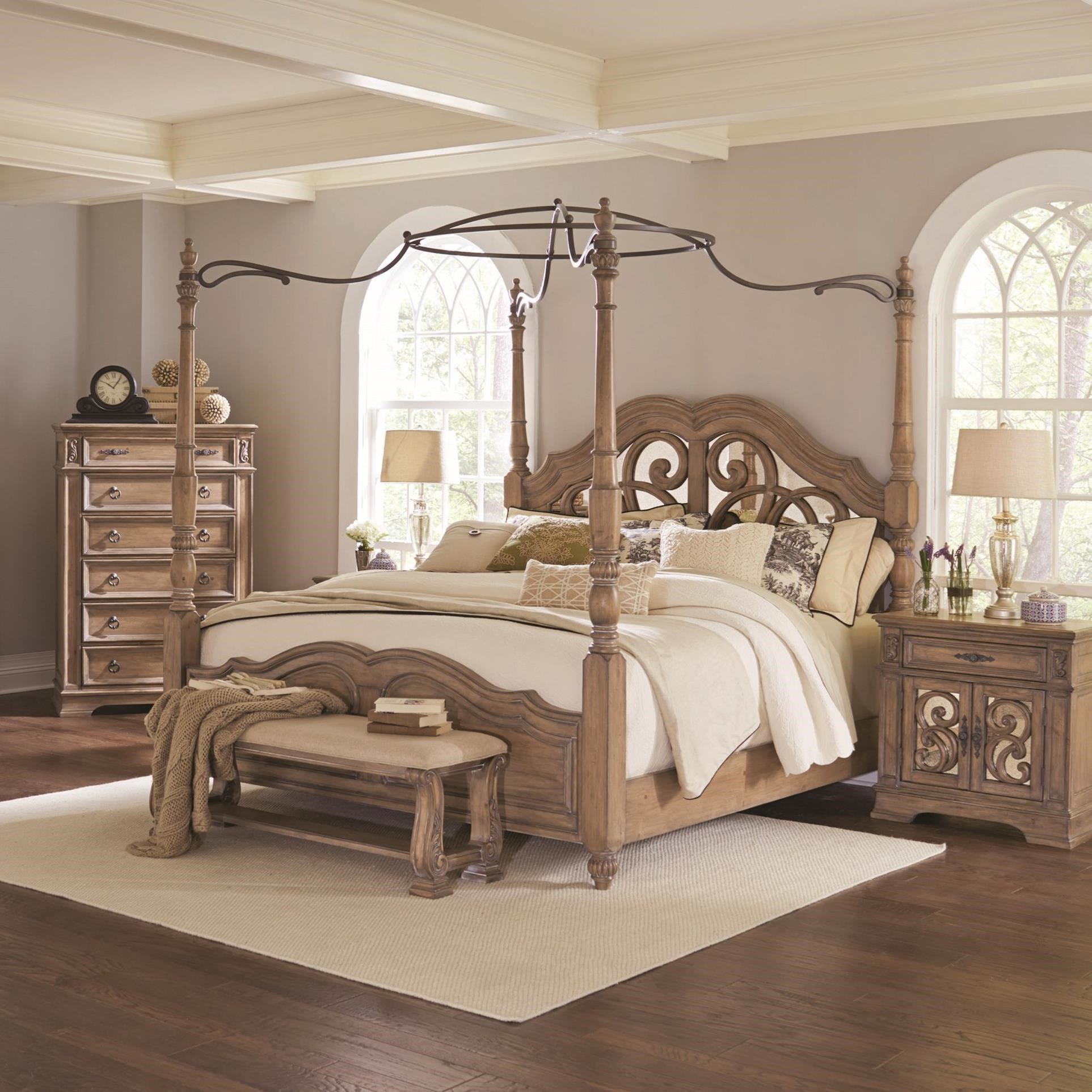 Ilana California King Canopy Bed With Mirror Back Headboard Quality Furniture At Affordable Prices In Philadelphia Main Line Pa