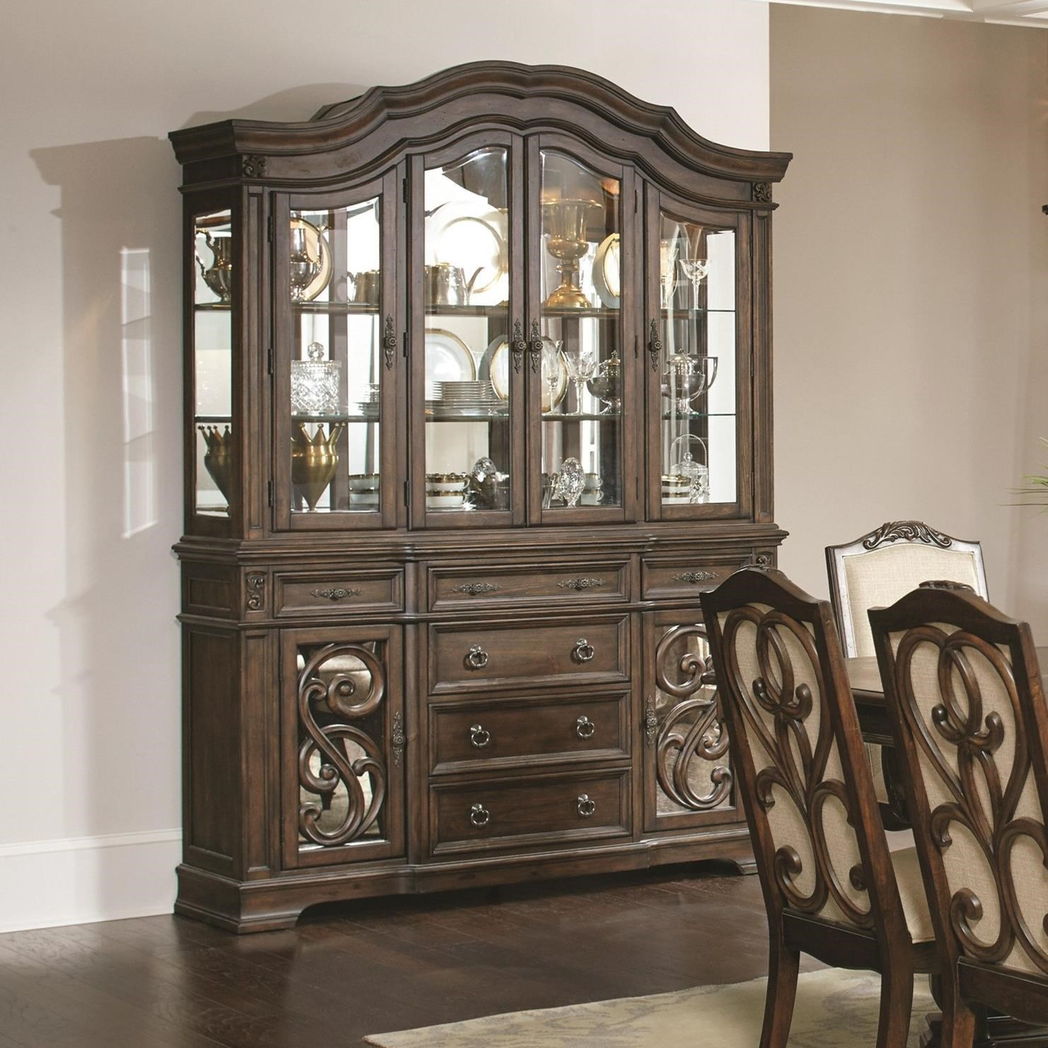 Ilana Traditional China Cabinet With Glass Doors Quality
