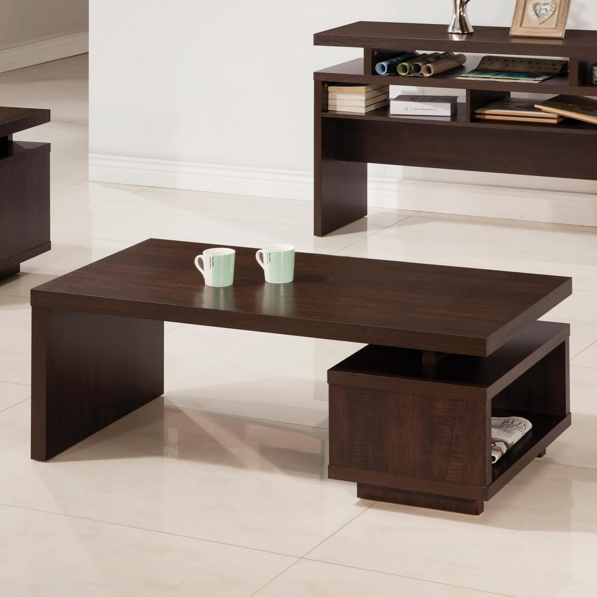 Fenella Modern Coffee Table With Floating Top Design