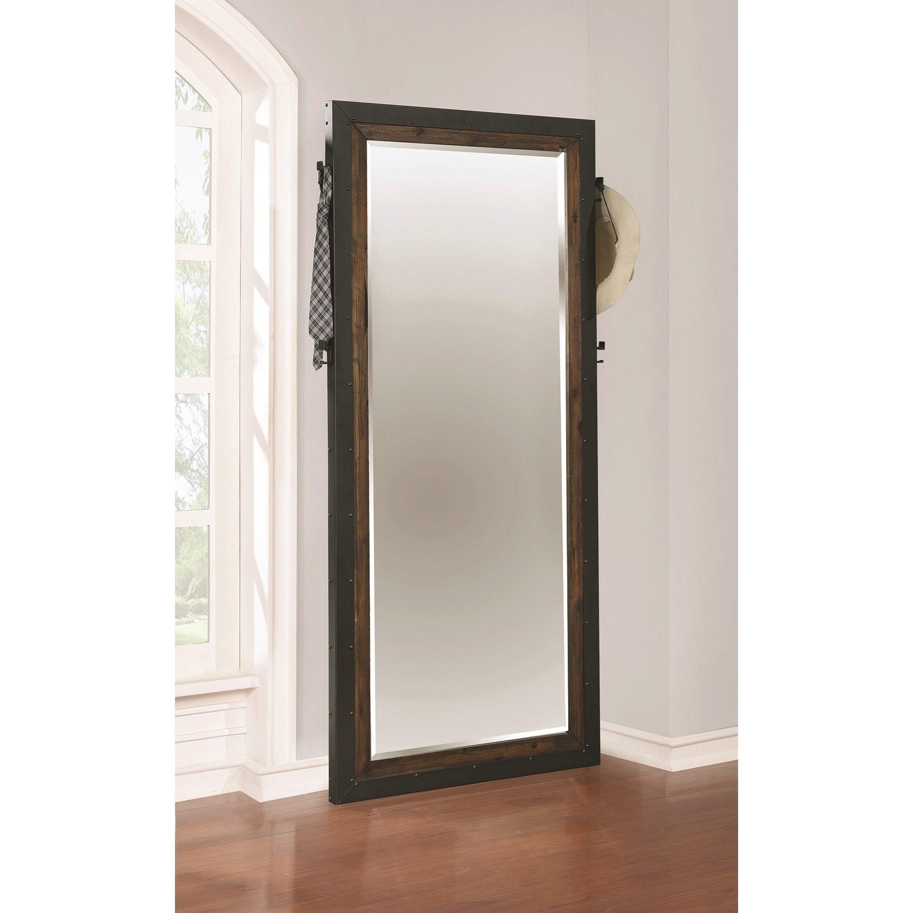 Ellison Industrial Floor Mirror With Metal Frame Quality
