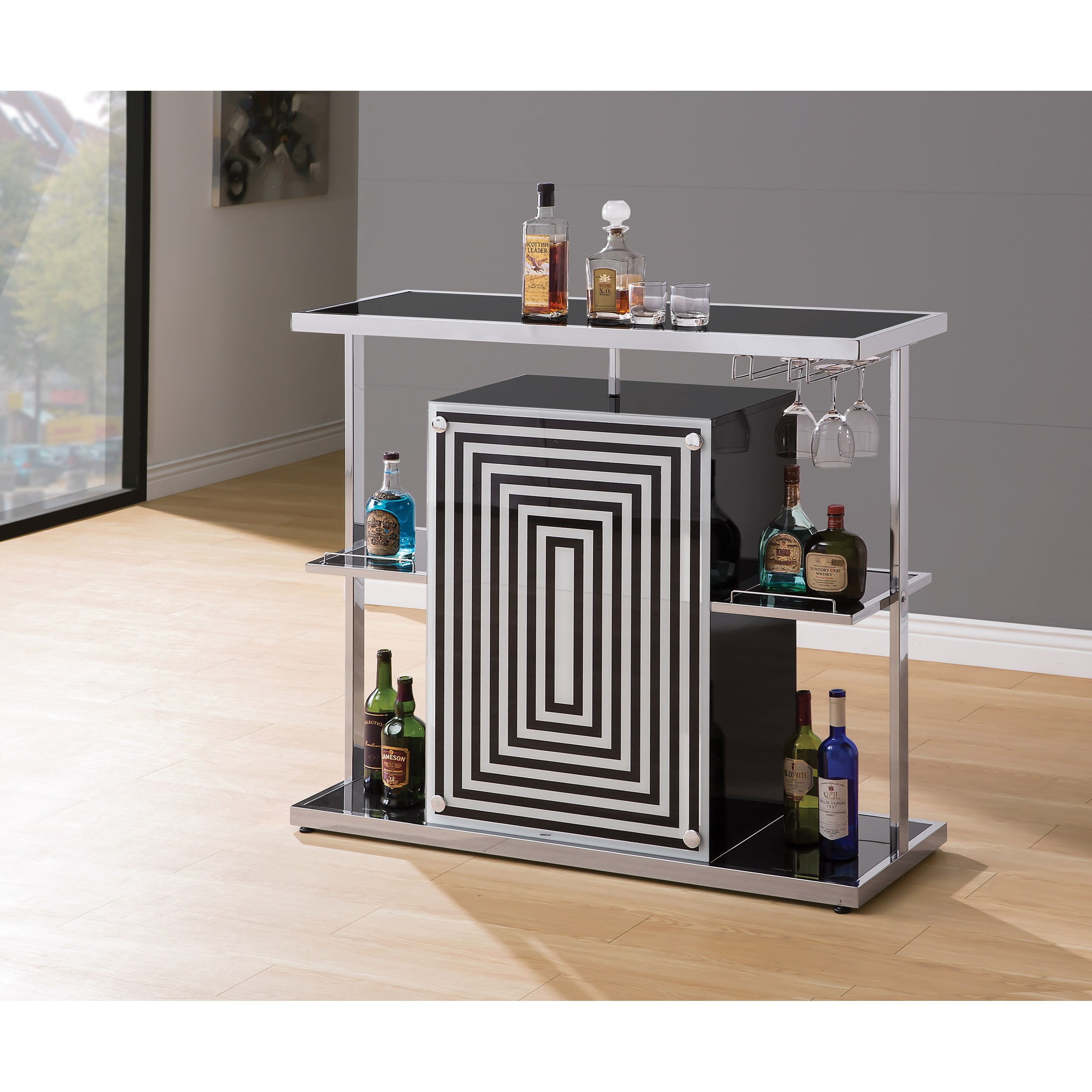 Radiating Bar Unit Contemporary Bar With Wine Glass