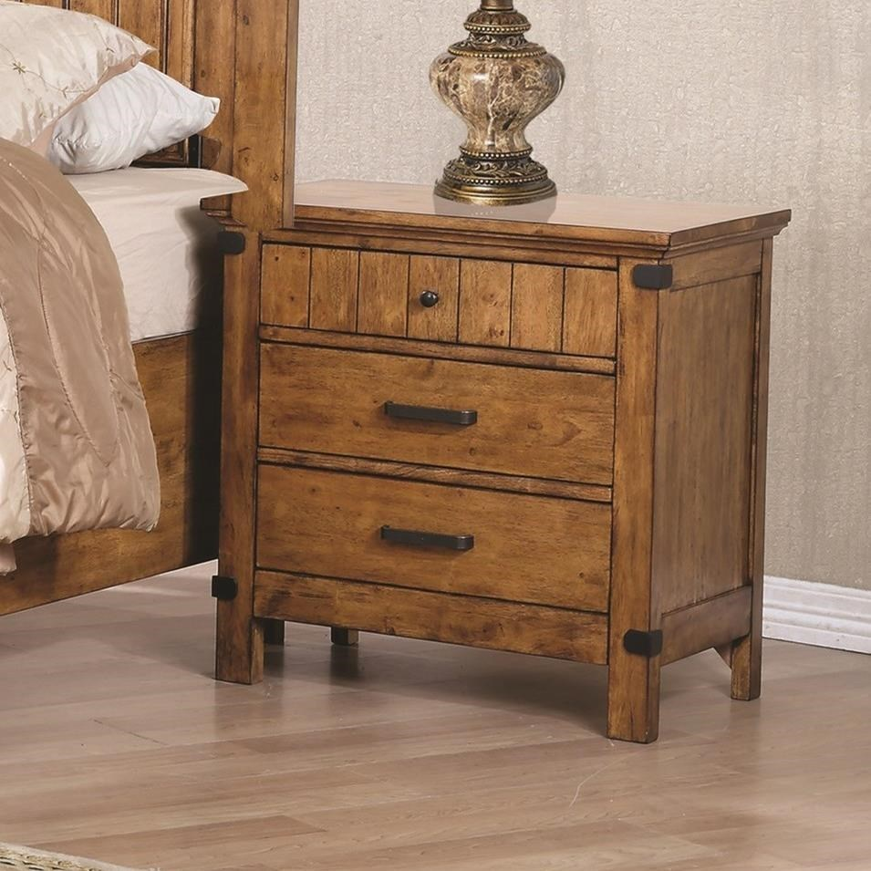 Brenner 3 drawer night stand with felt lined drawer for Night stand cost
