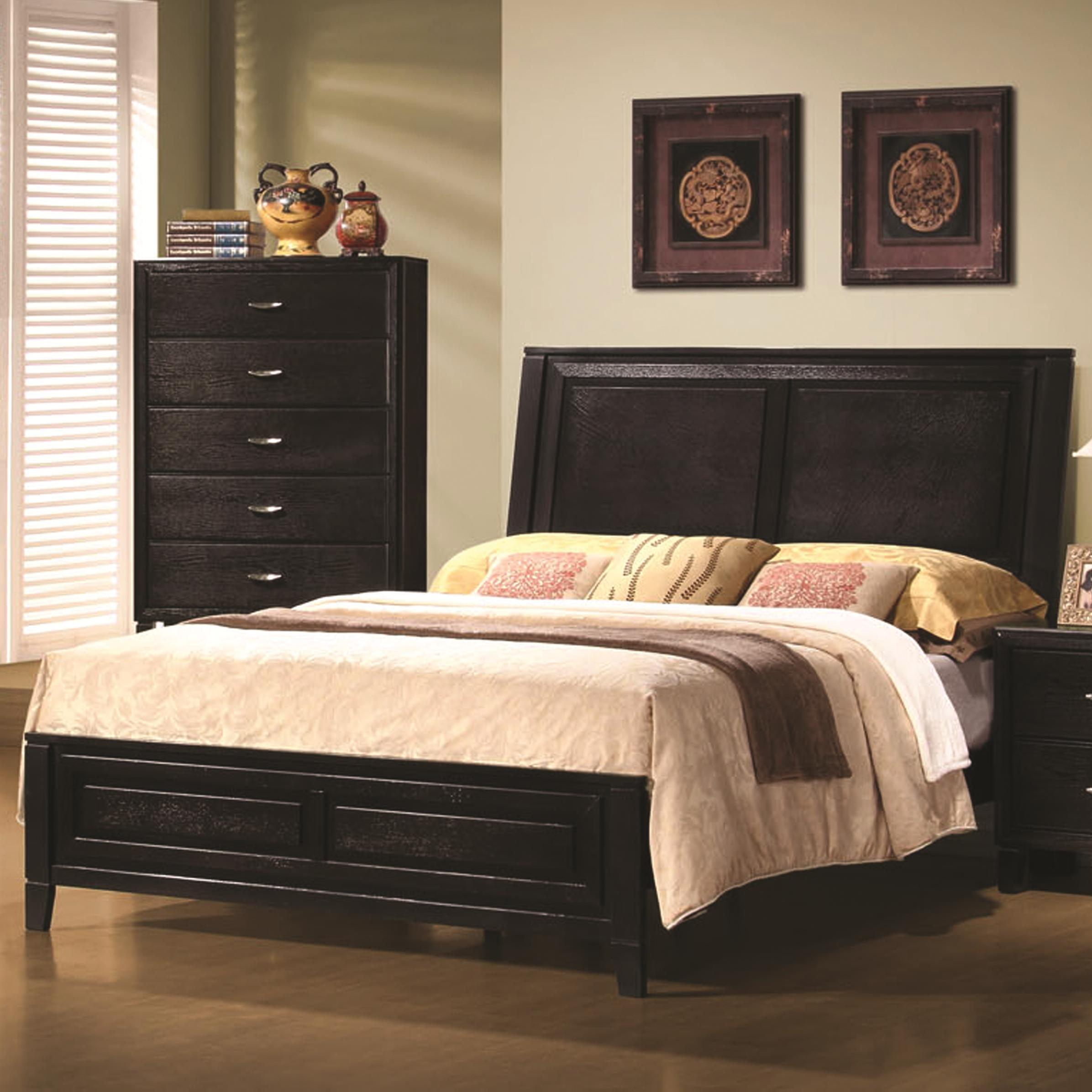 Nacey Queen Contemporary Headboard And Footboard Bed