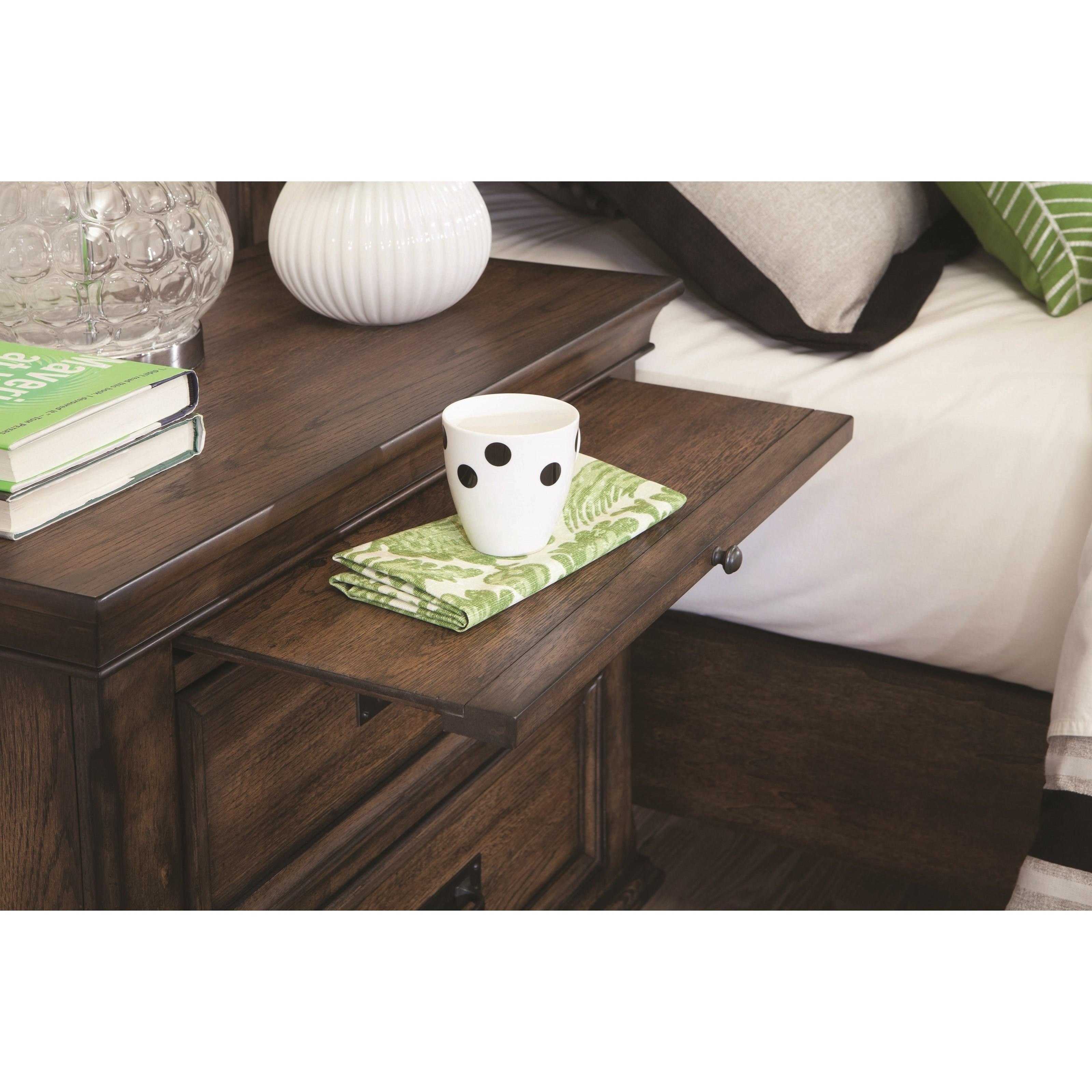 Franco 2 Drawer Nightstand With Pull Out Tray Quality
