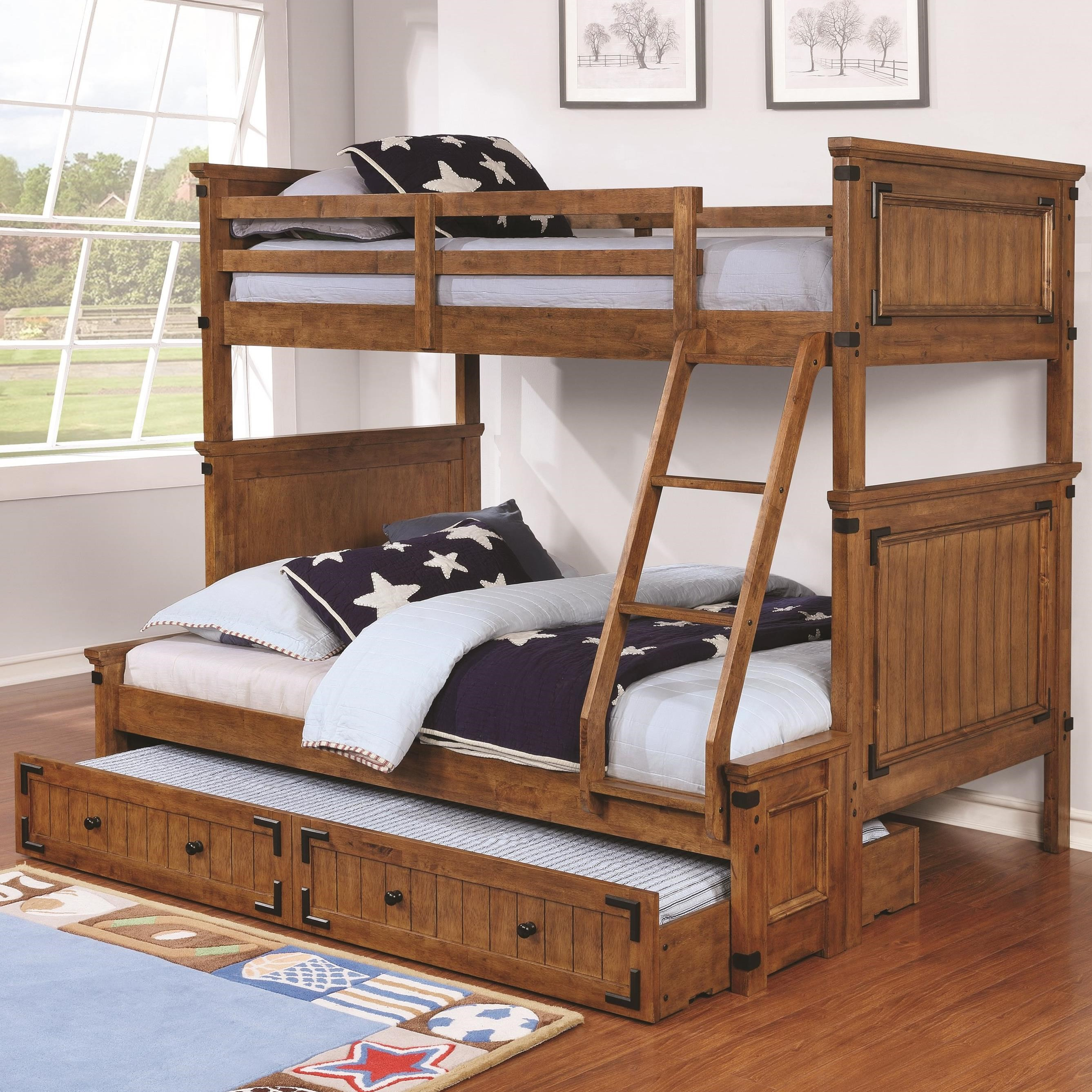 Coronado Bunk Bed Casual Wooden Twin Over Full Bunk Bed