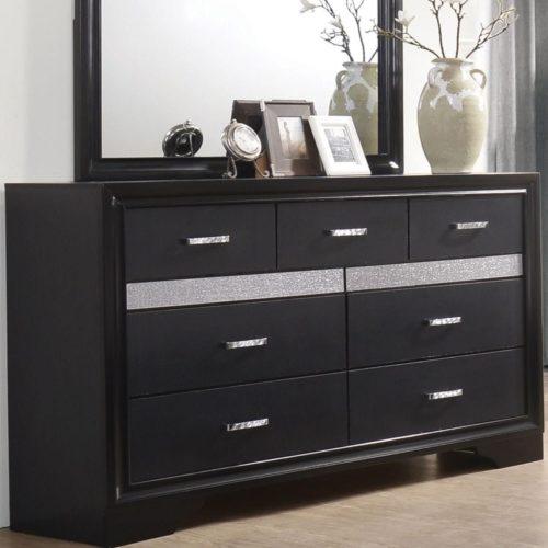 Miranda 7 drawer dresser with hidden jewelry tray for Hidden jewelry drawer