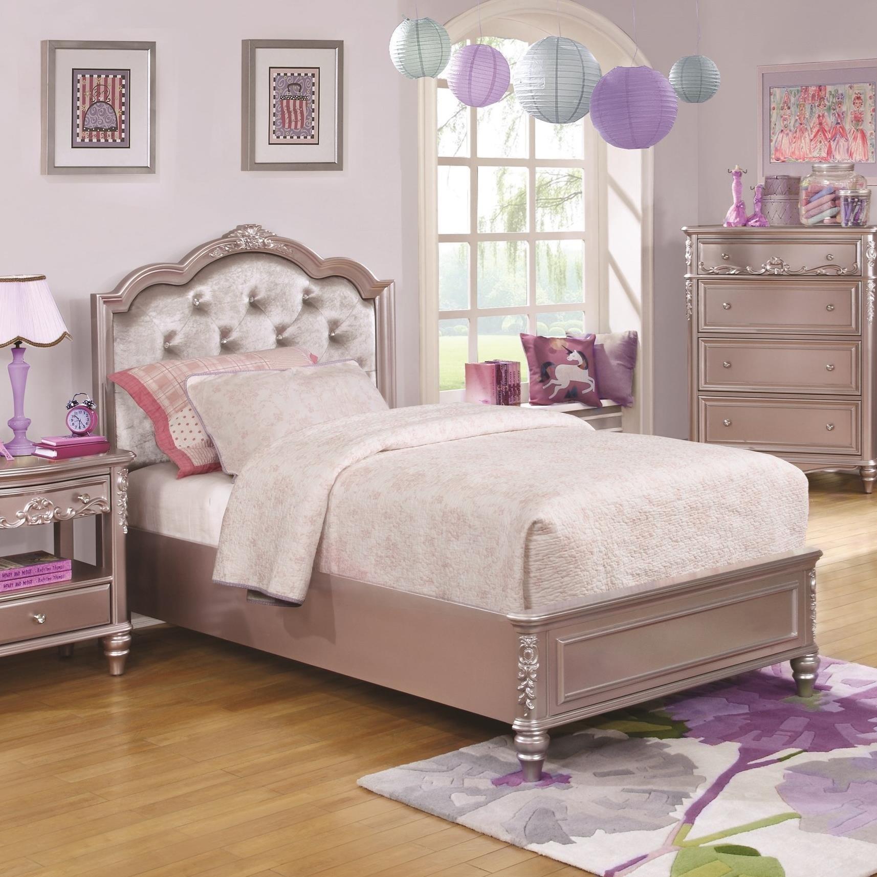 Caroline Full Size Bed with Diamond Tufted Headboard ...
