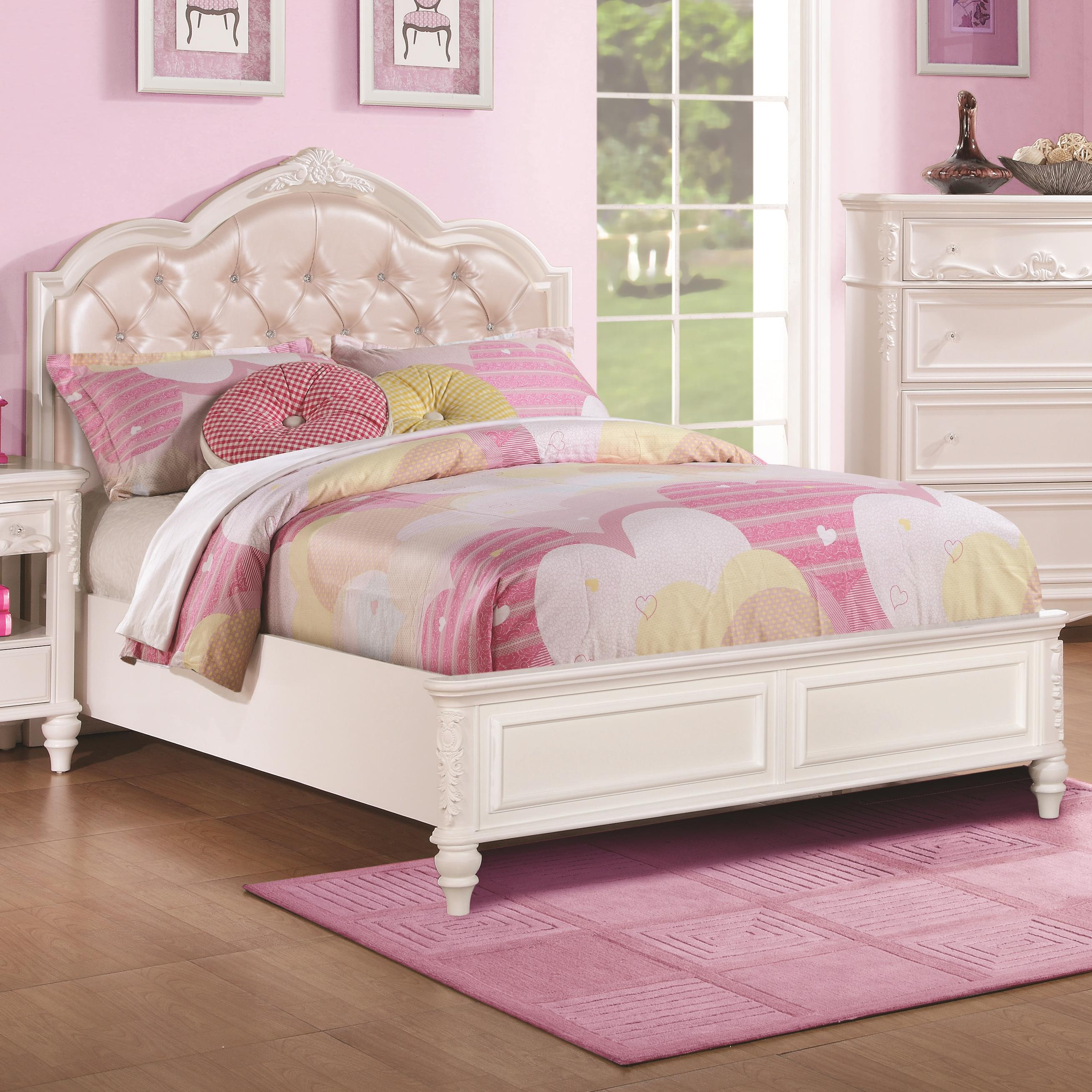 innovative design c3125 14cc3 Caroline Twin Size Bed and Diamond Tufted Headboard