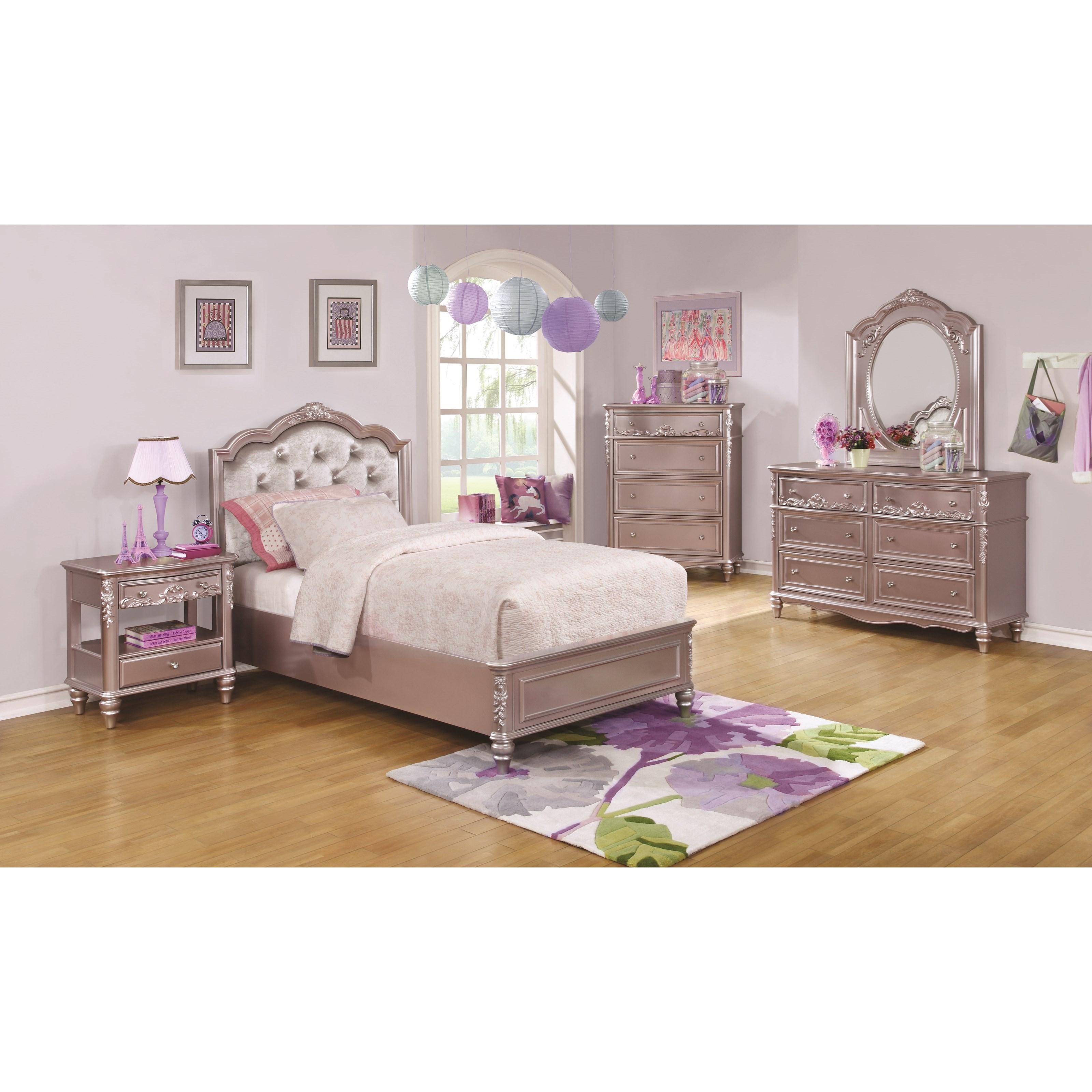 Caroline Twin Size Storage Bed With Diamond Tufted