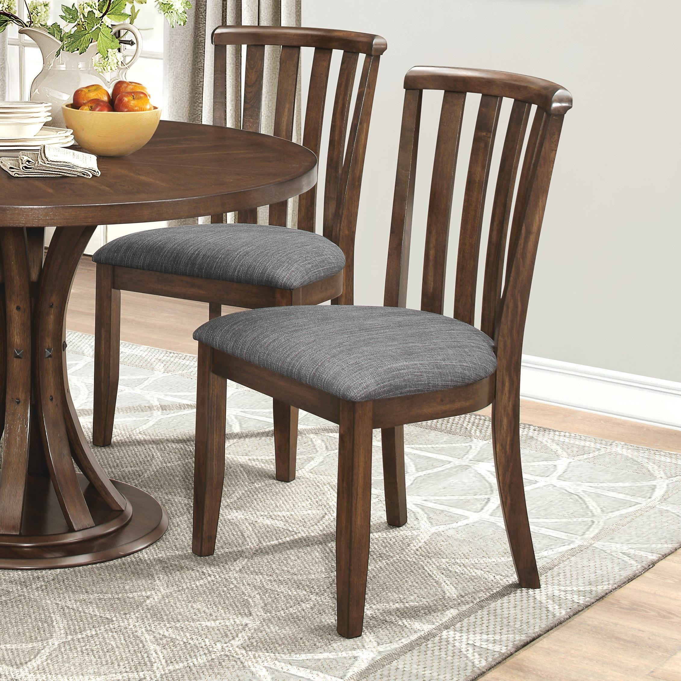 dining room chair upholstery fabric   Prescott Slat Back Dining Chair with Gray Fabric ...