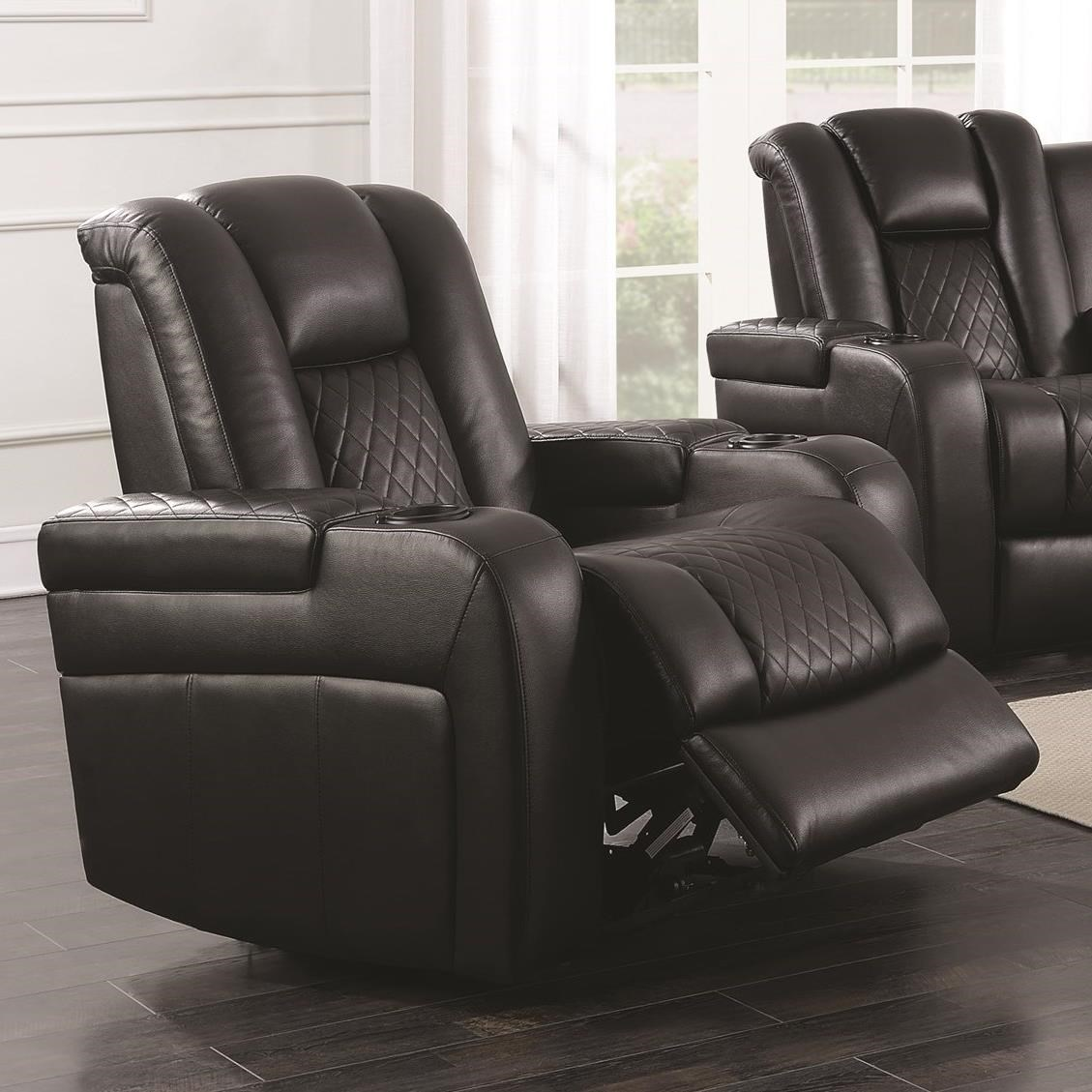 Delangelo Casual Power Recliner With Cup Holders Storage